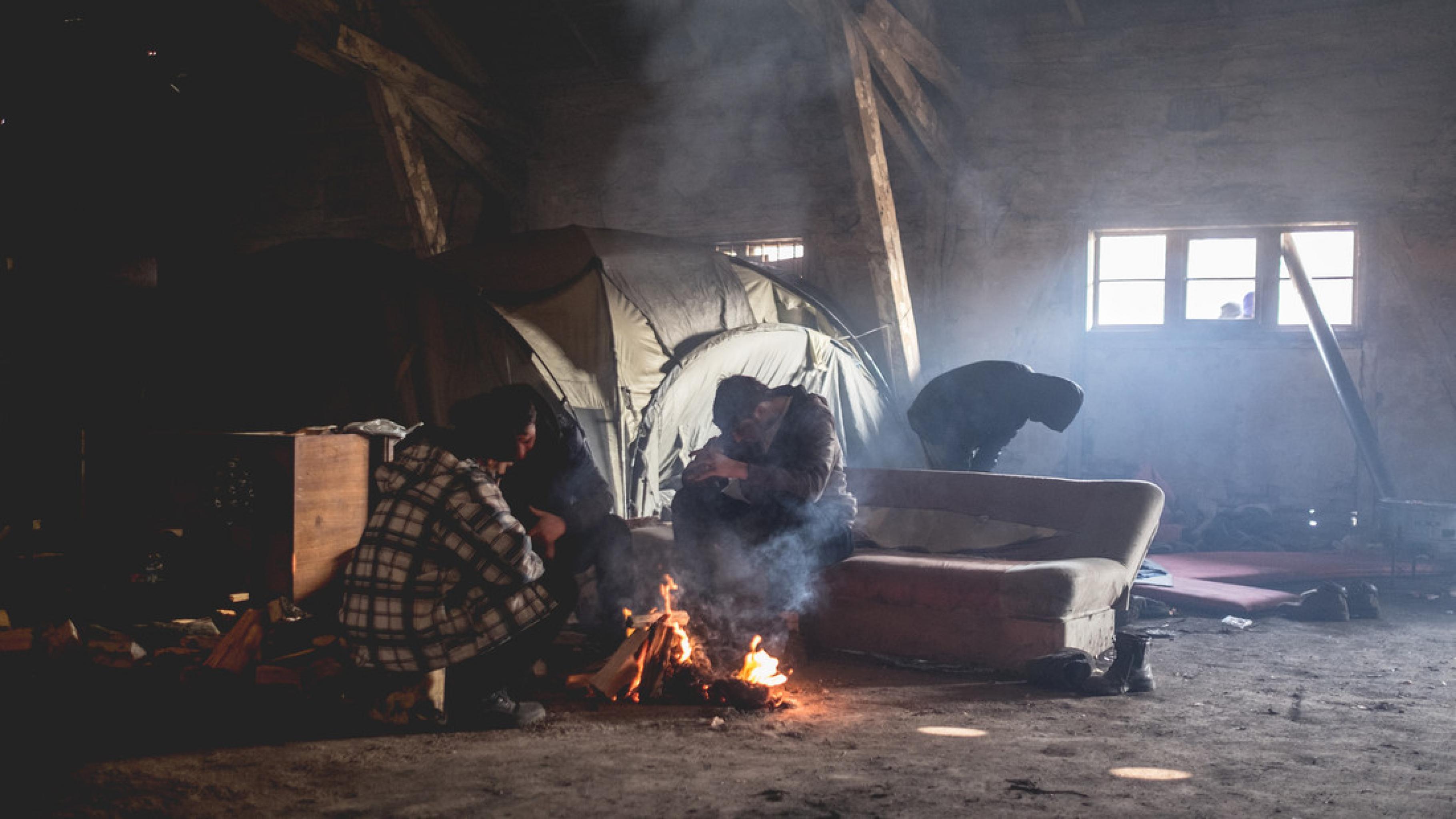 Balkan-Bericht: Menschen auf der Flucht sind kalten Temperaturen schutzlos ausgesetzt