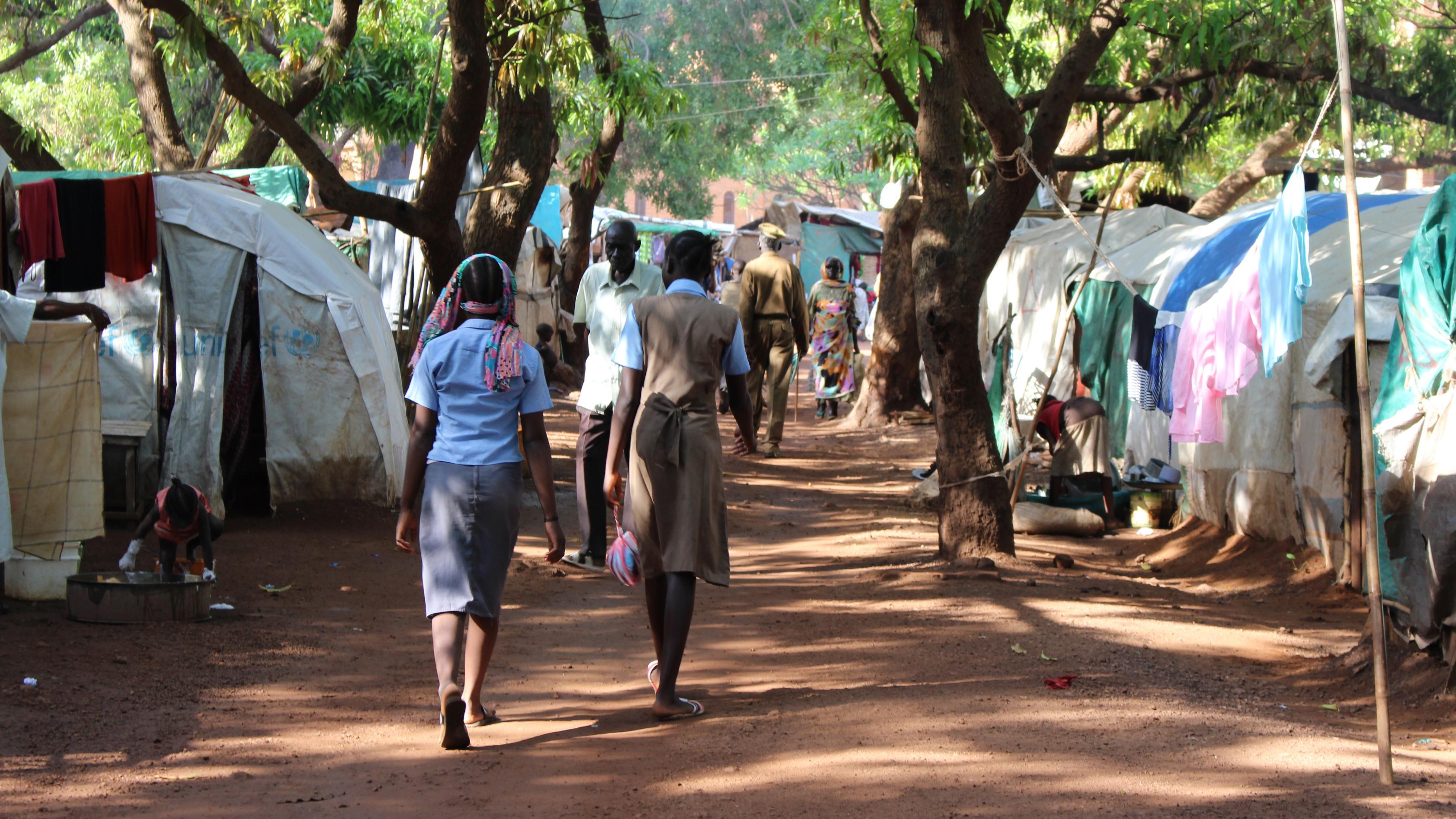 Binnenflüchtlinge im Lager in Wau, Südsudan