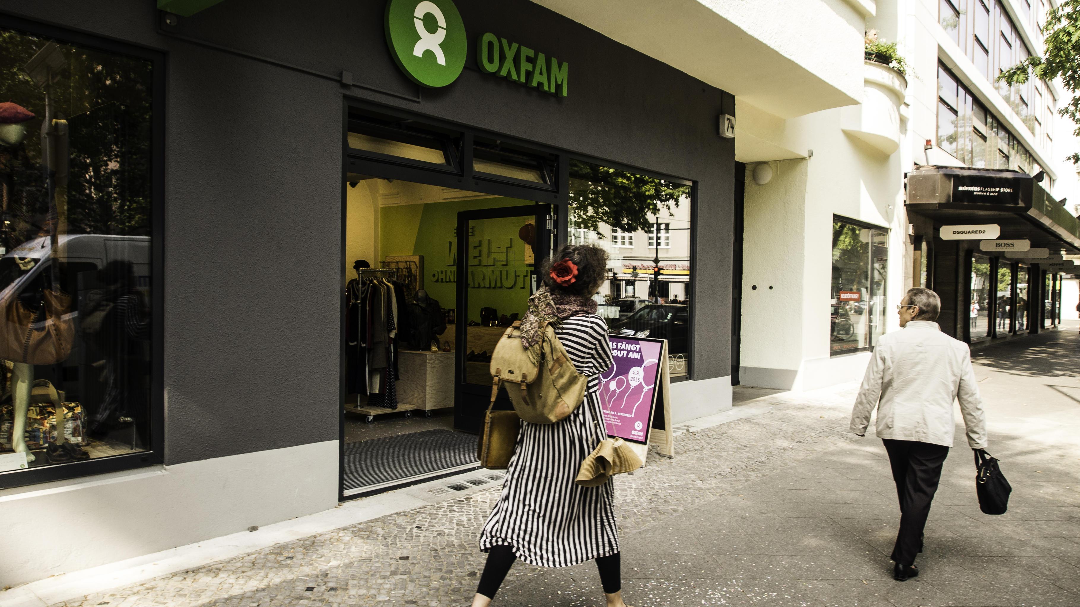 Die oxfam shops for Oxfam spenden