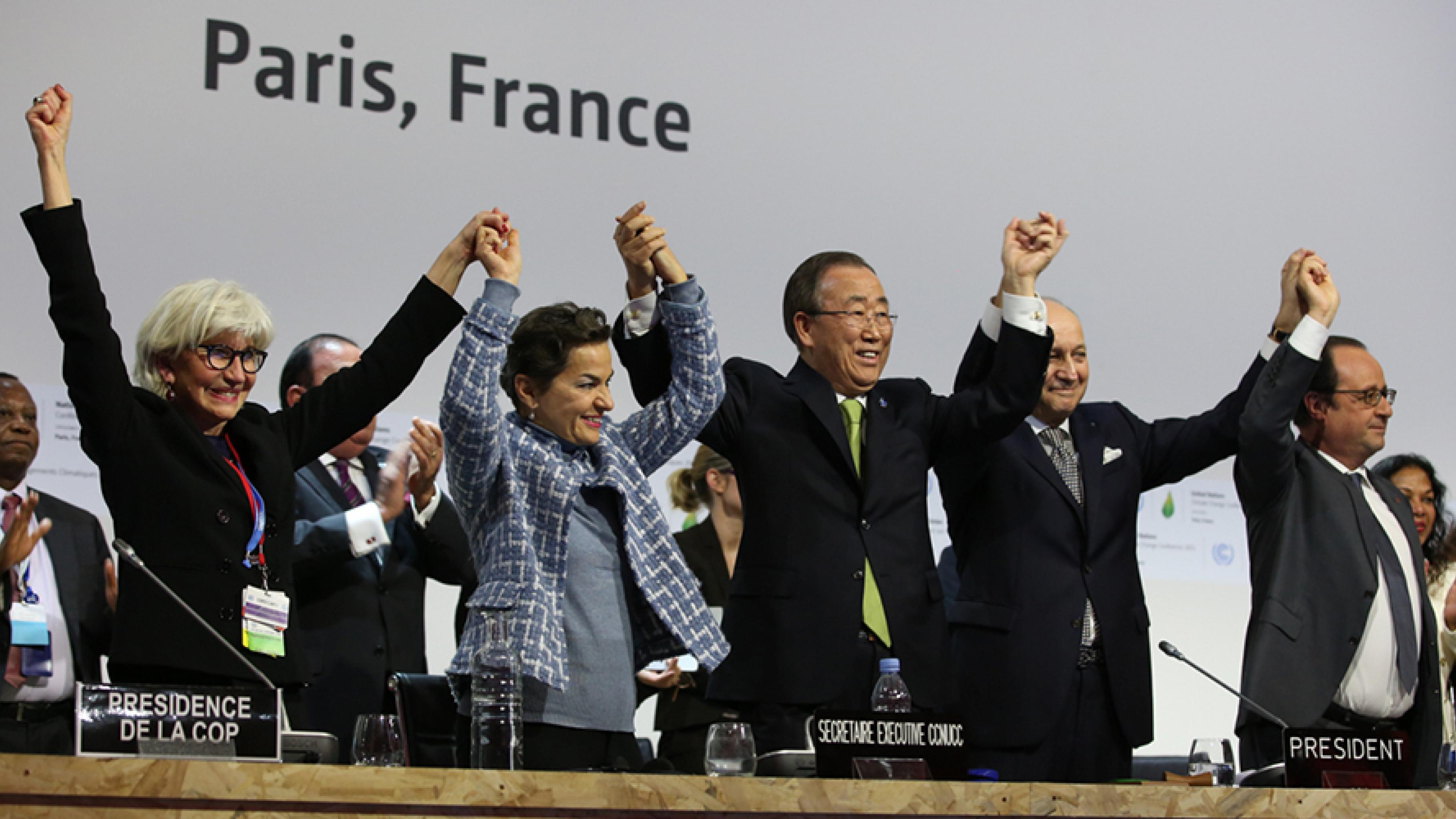 Jubel fürs Pariser Klimaschutzabkommen