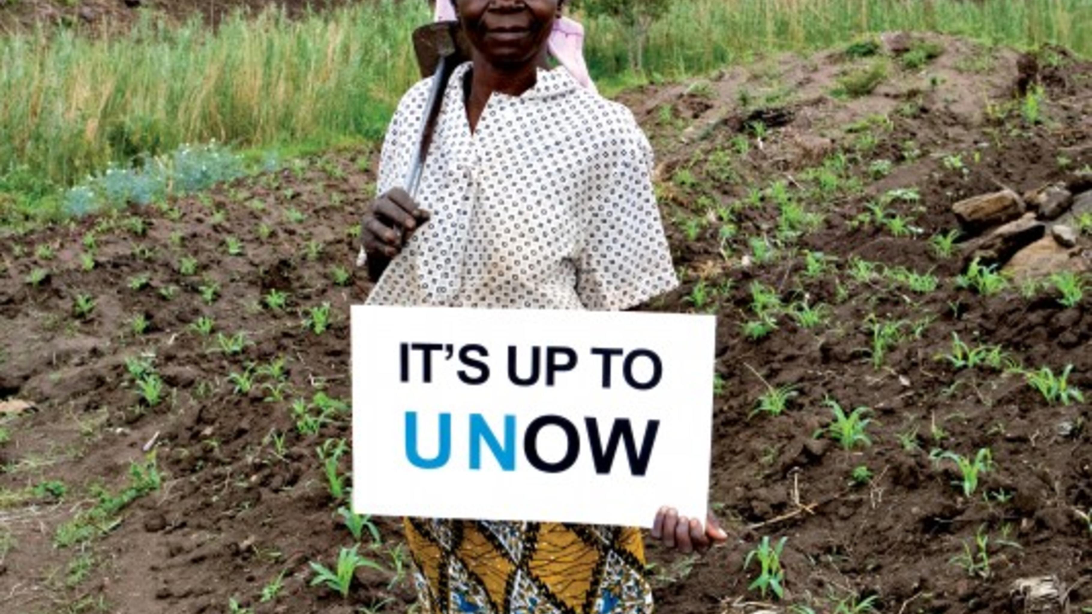 Estela Njolo sagt: die UN muss mehr gegen den Klimawandel tun.