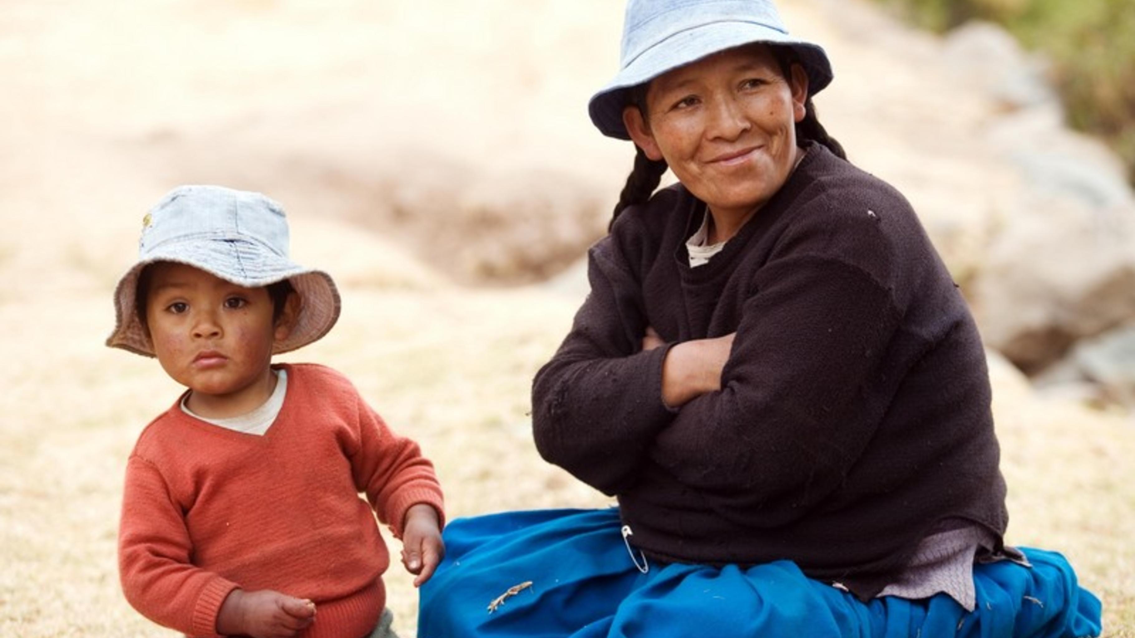 Lucia Quispe, Kleinbäuerin aus Khapi, einem Dorf am Fuße des Illimani-Gletschers