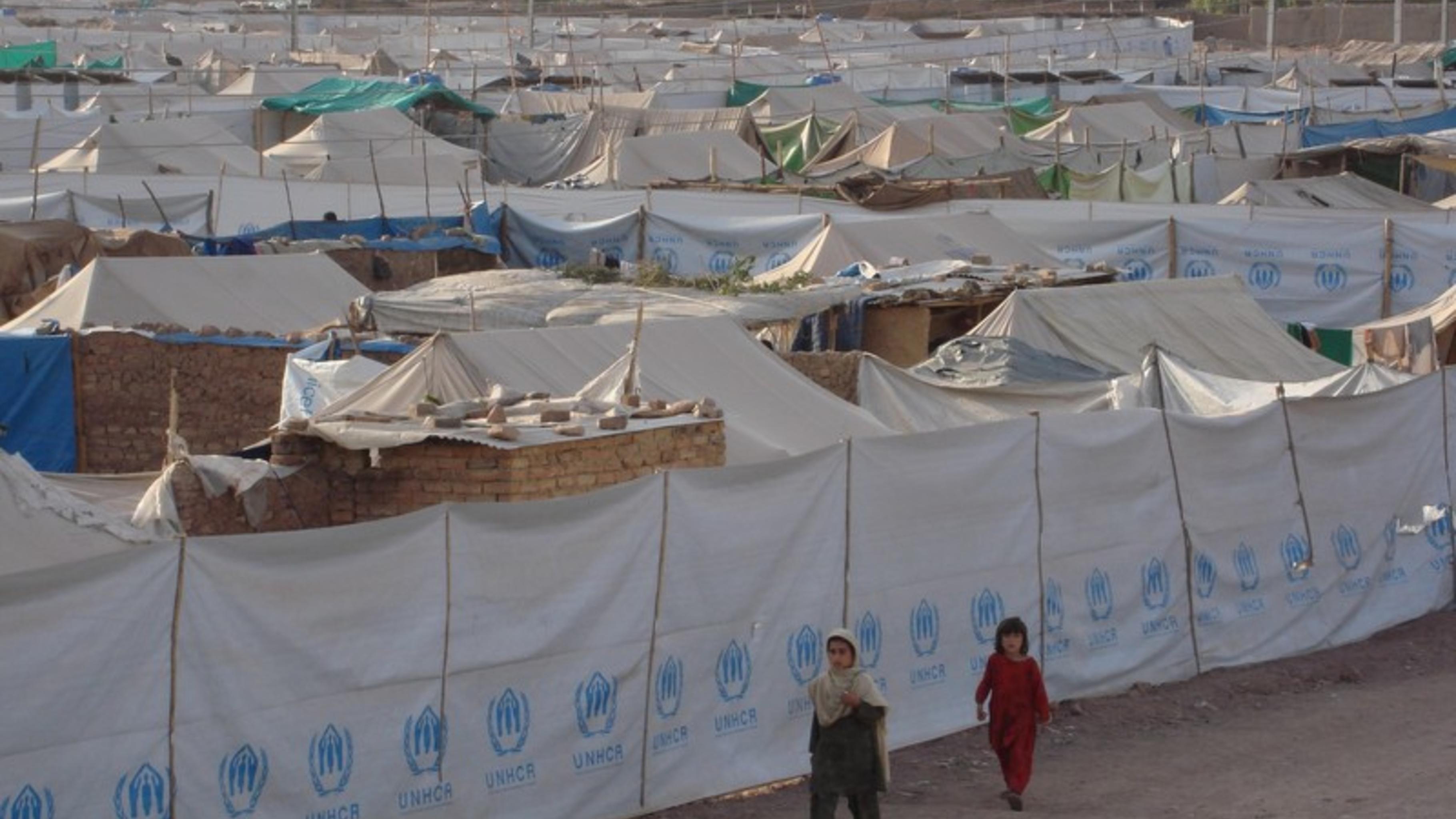 Foto: Notunterkünfte für die Menschen in Pakistan.