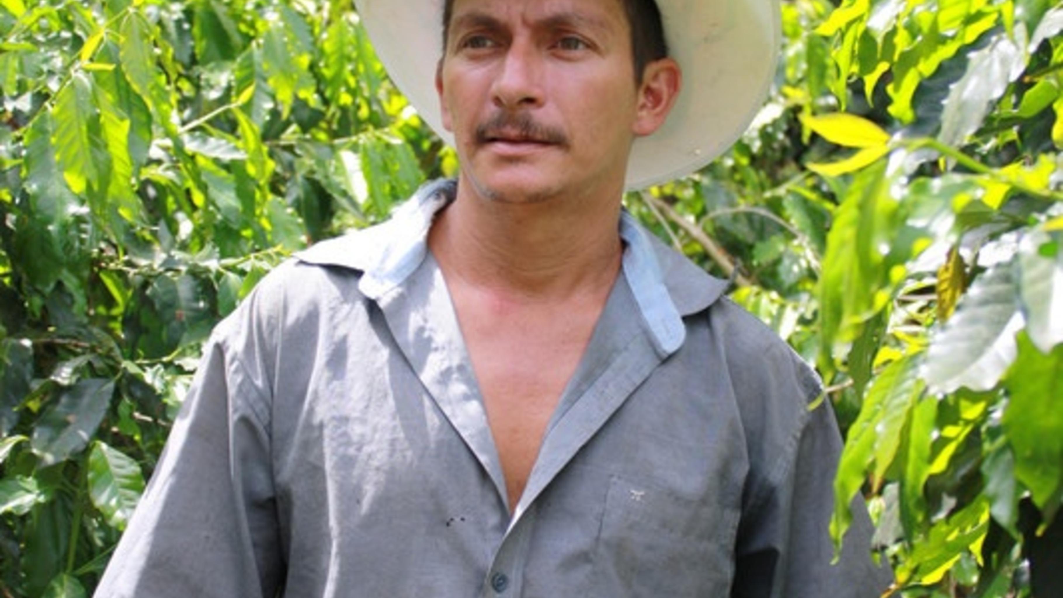Joaquin Pacheco baut Kaffee in Honduras an.