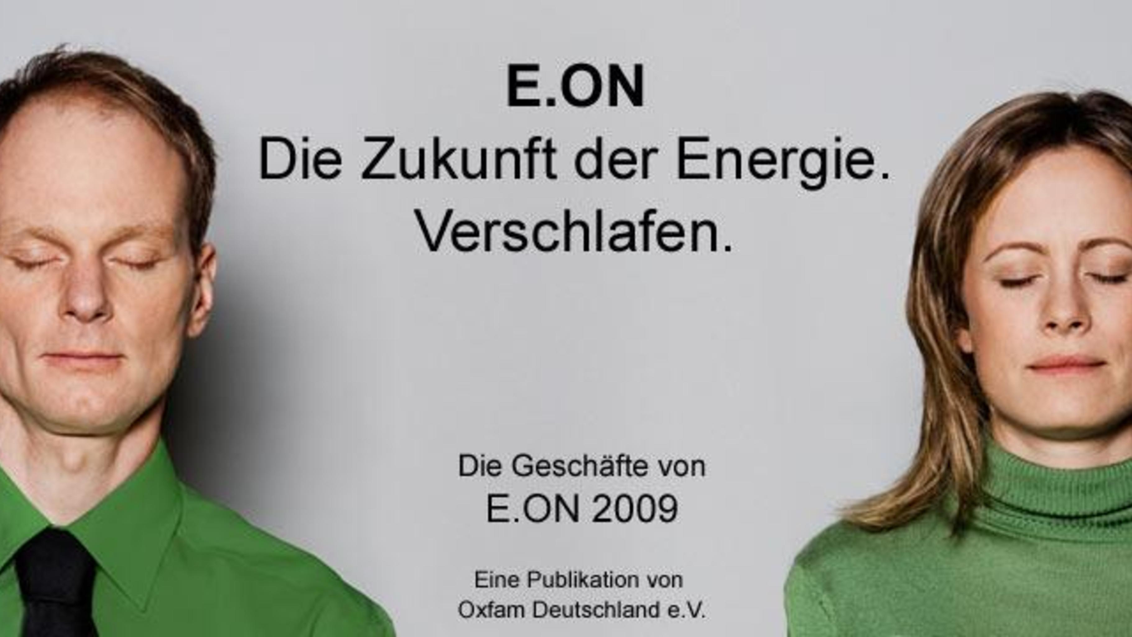 """Foto: Titelbild des Berichts  """"E.ON. Die Zukunft der Energie. Verschlafen."""""""