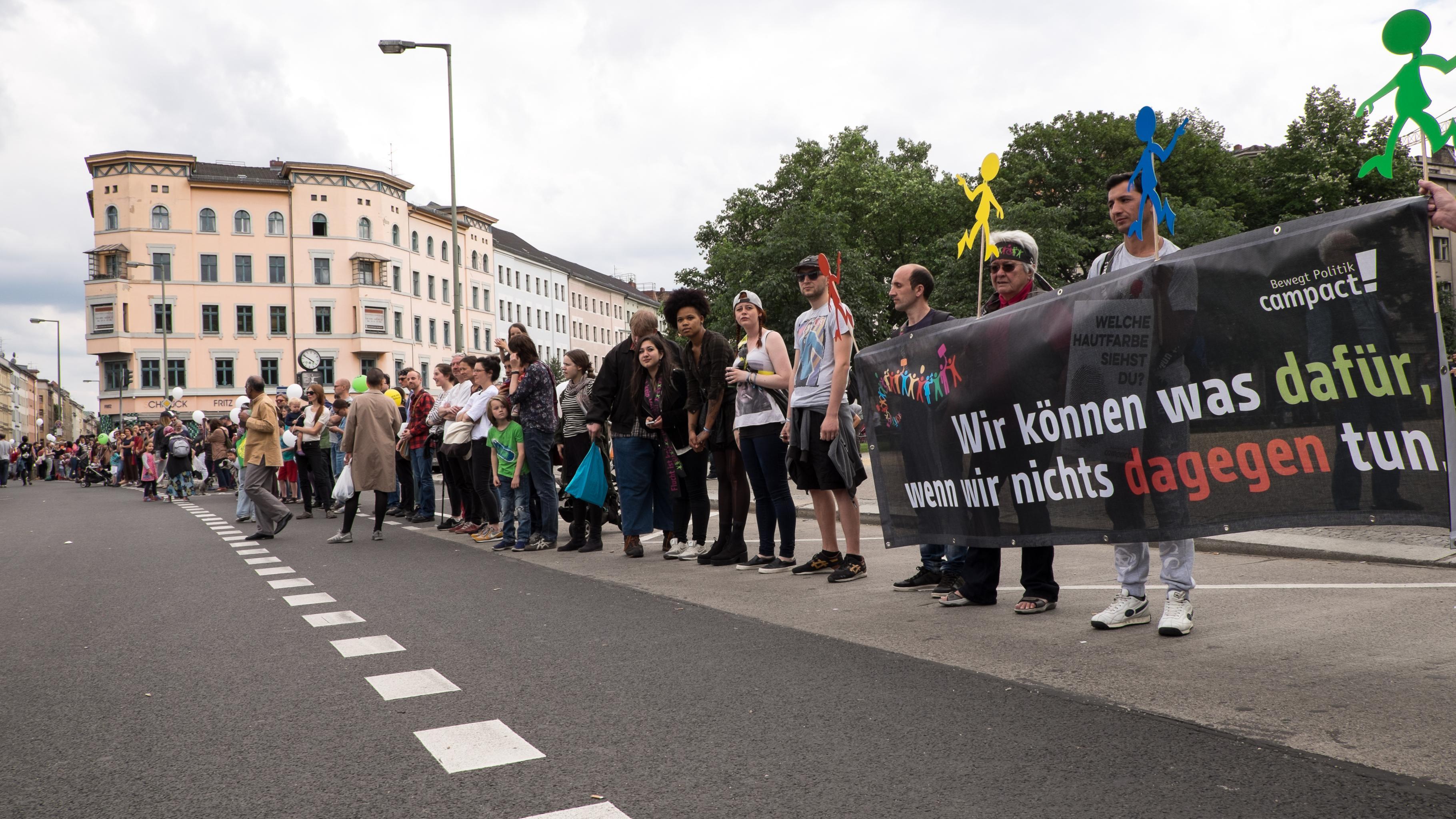 Eindrücke von der Menschenkette in Berlin.