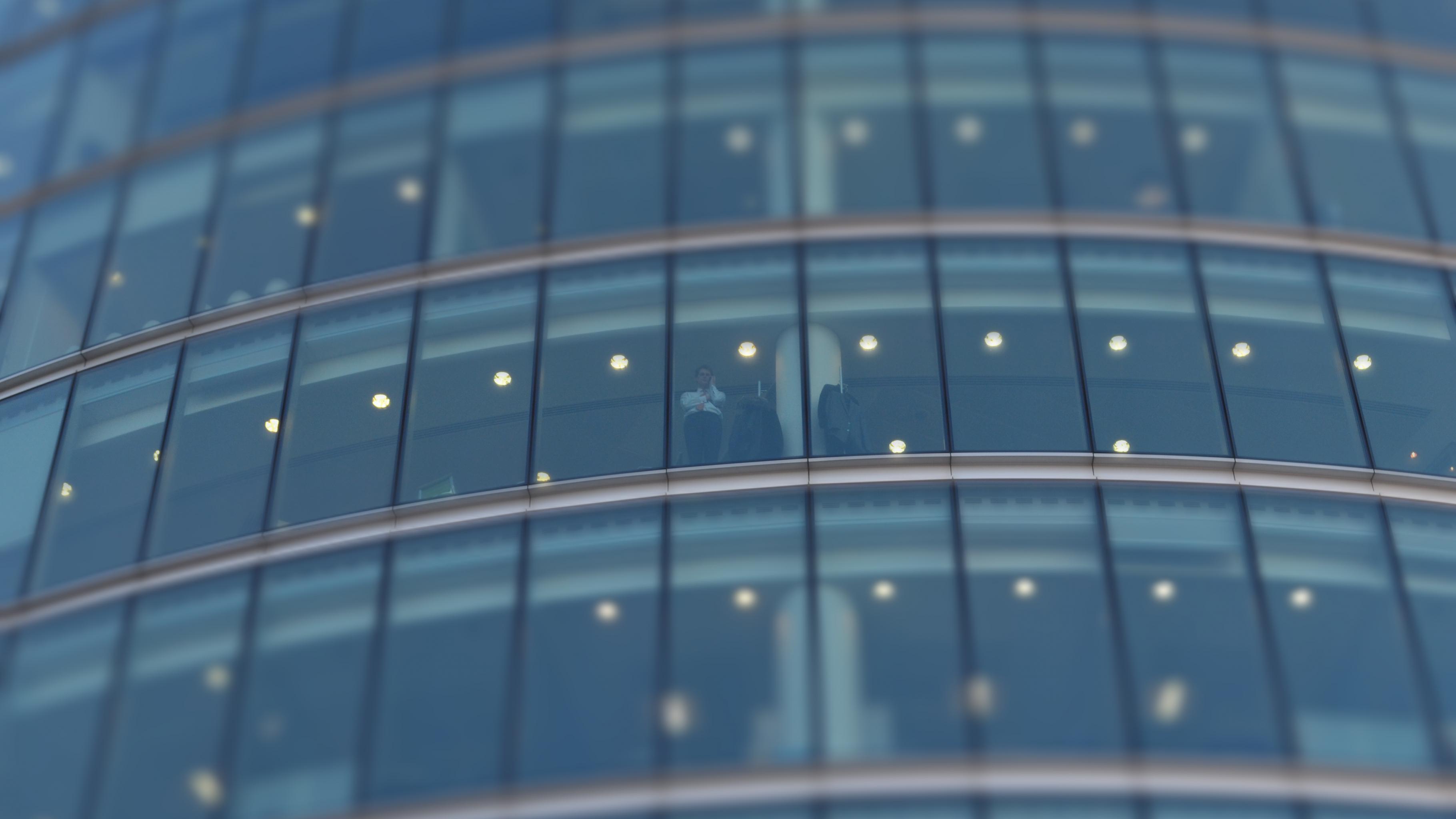 Fensterfront eines Bürogebäudes