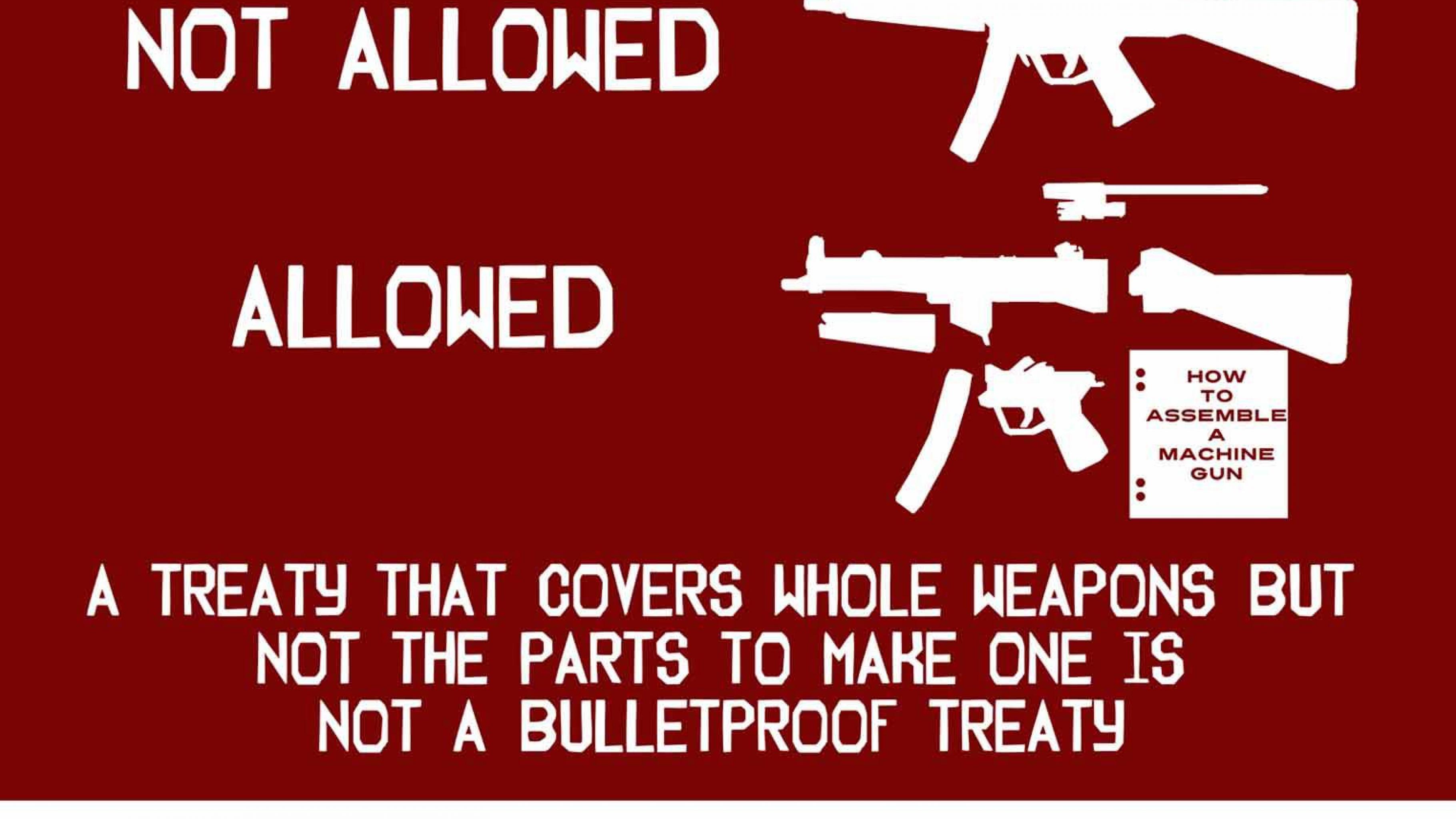 Das Waffenhandelsabkommen ATT muss auch den Handel mit Waffenteilen umfassen.