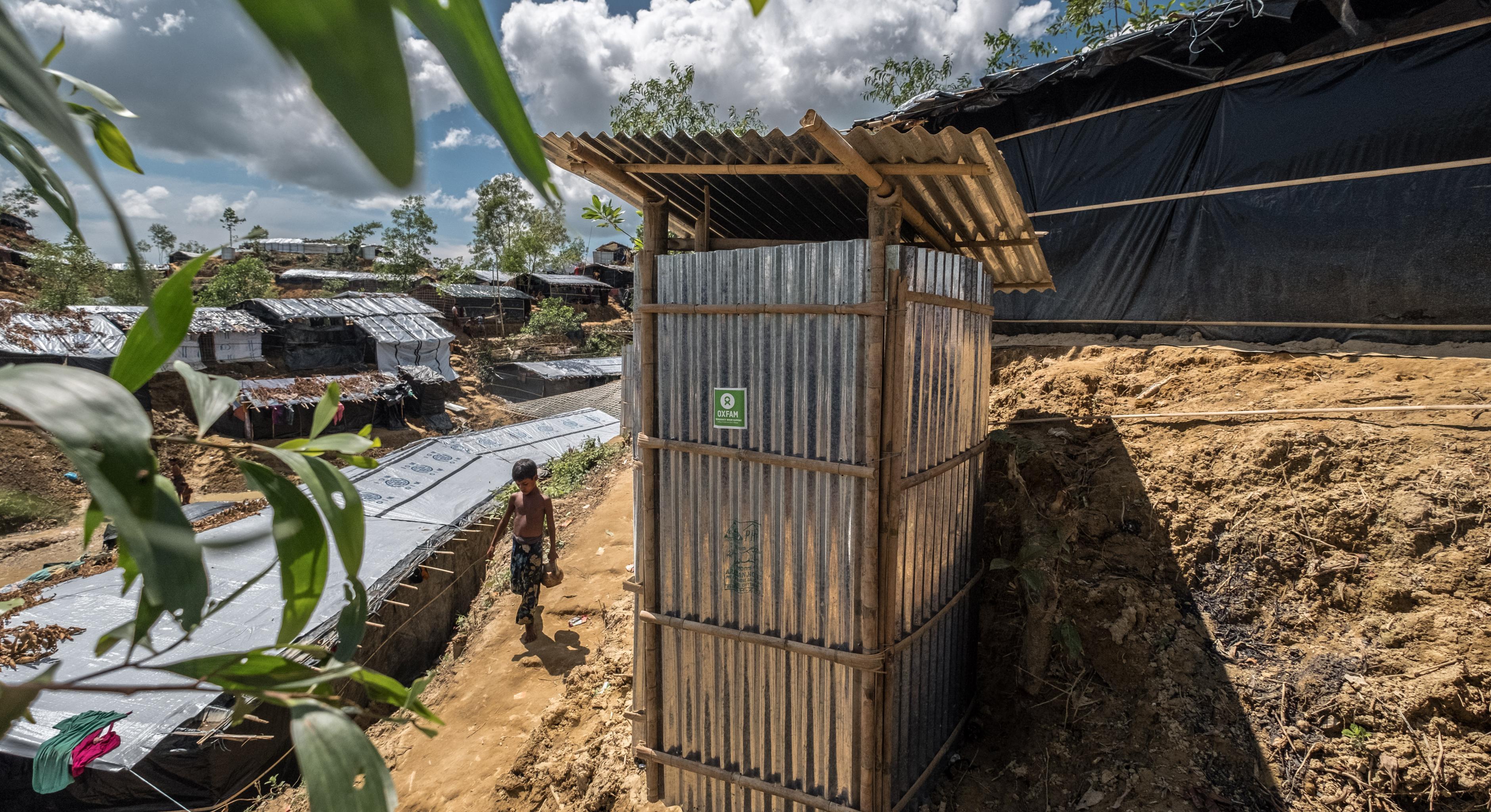 Oxfam-Latrine im Balukhali-Camp in Bangladesch