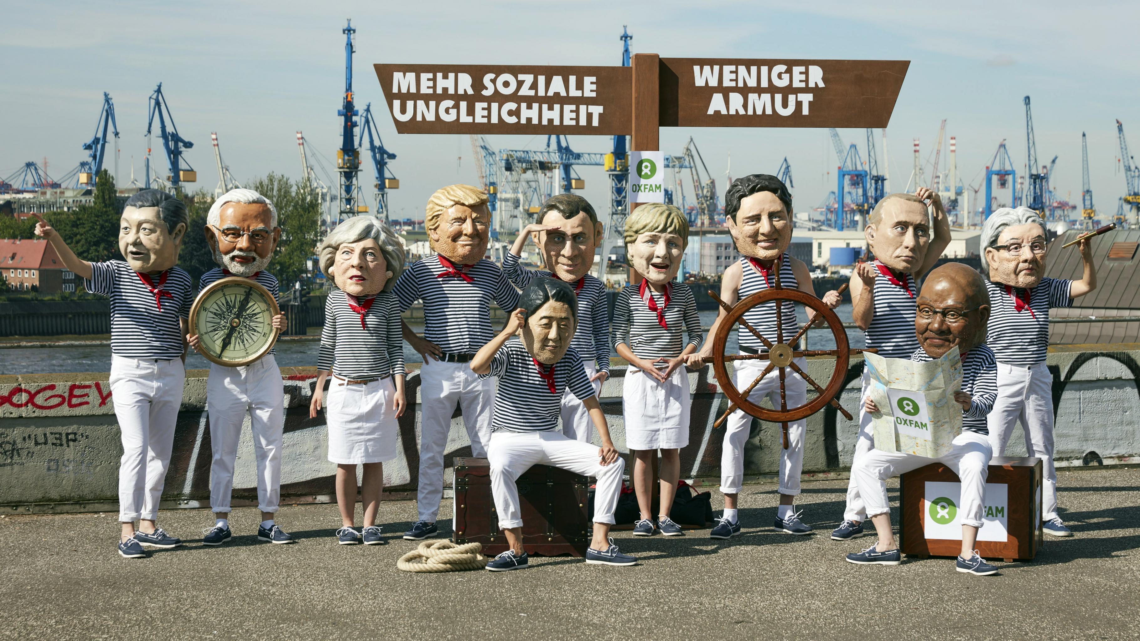 Oxfam G20 Photostunt