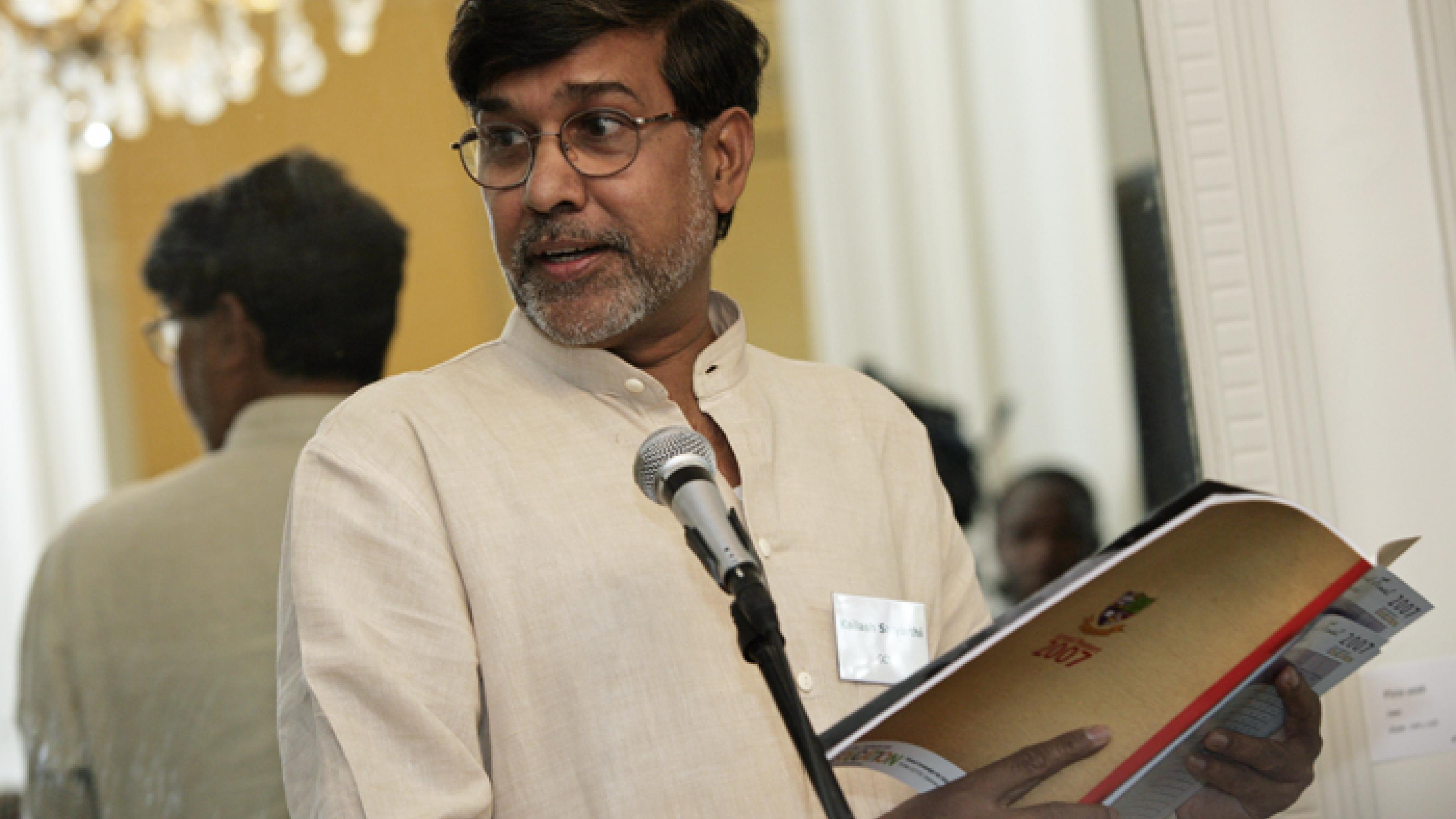 Kailash Satyarthi ist Mitbegründer der Global Campaign for Education.