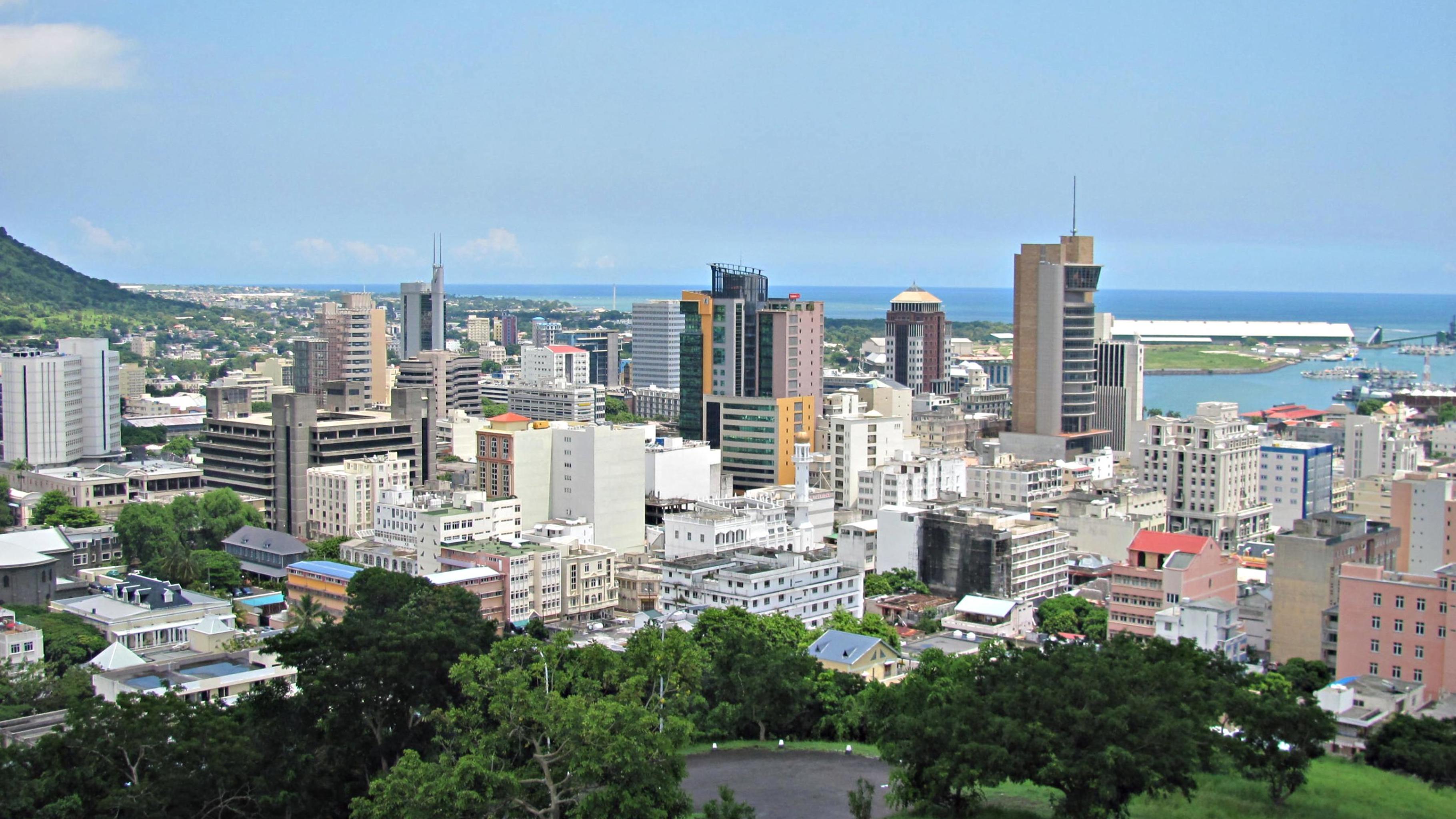 Skyline von Port-Louis, Mauritius