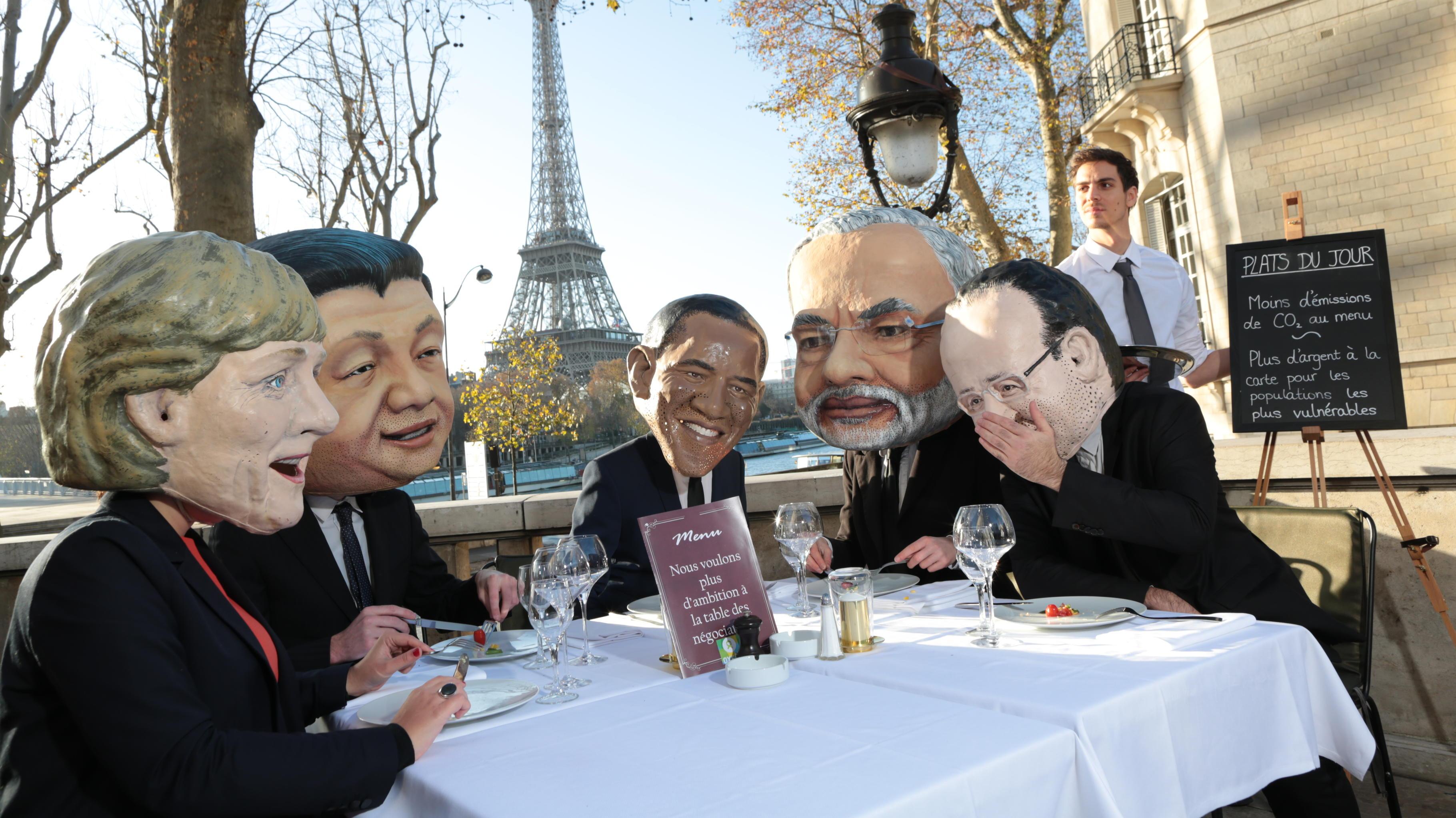 Oxfam-Stunt zum Auftakt der Klimakonferenz in Paris, 28.11.2015