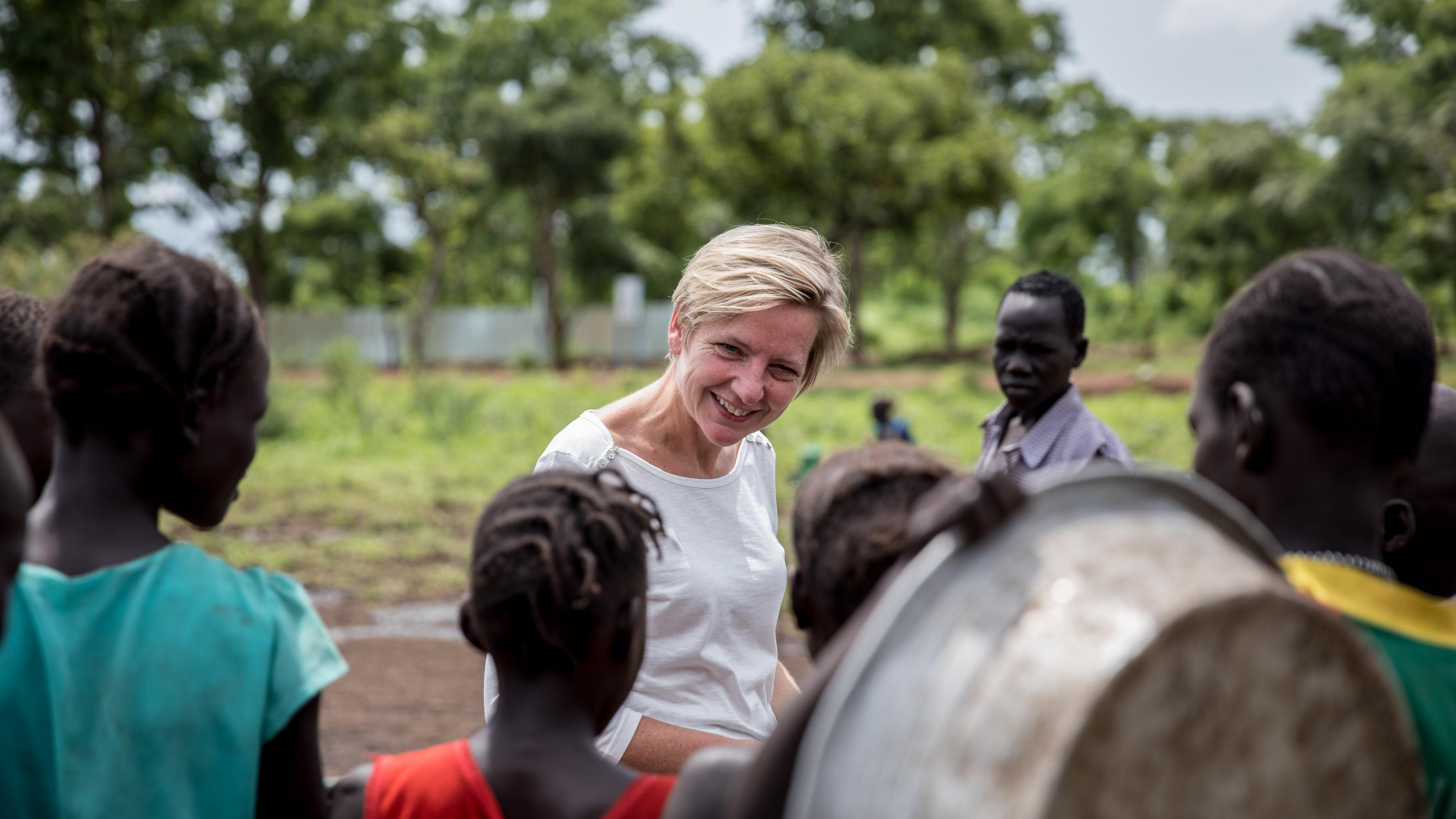 Anja Osterhaus in Äthiopien im Flüchtlingscamp Nguenyyiel