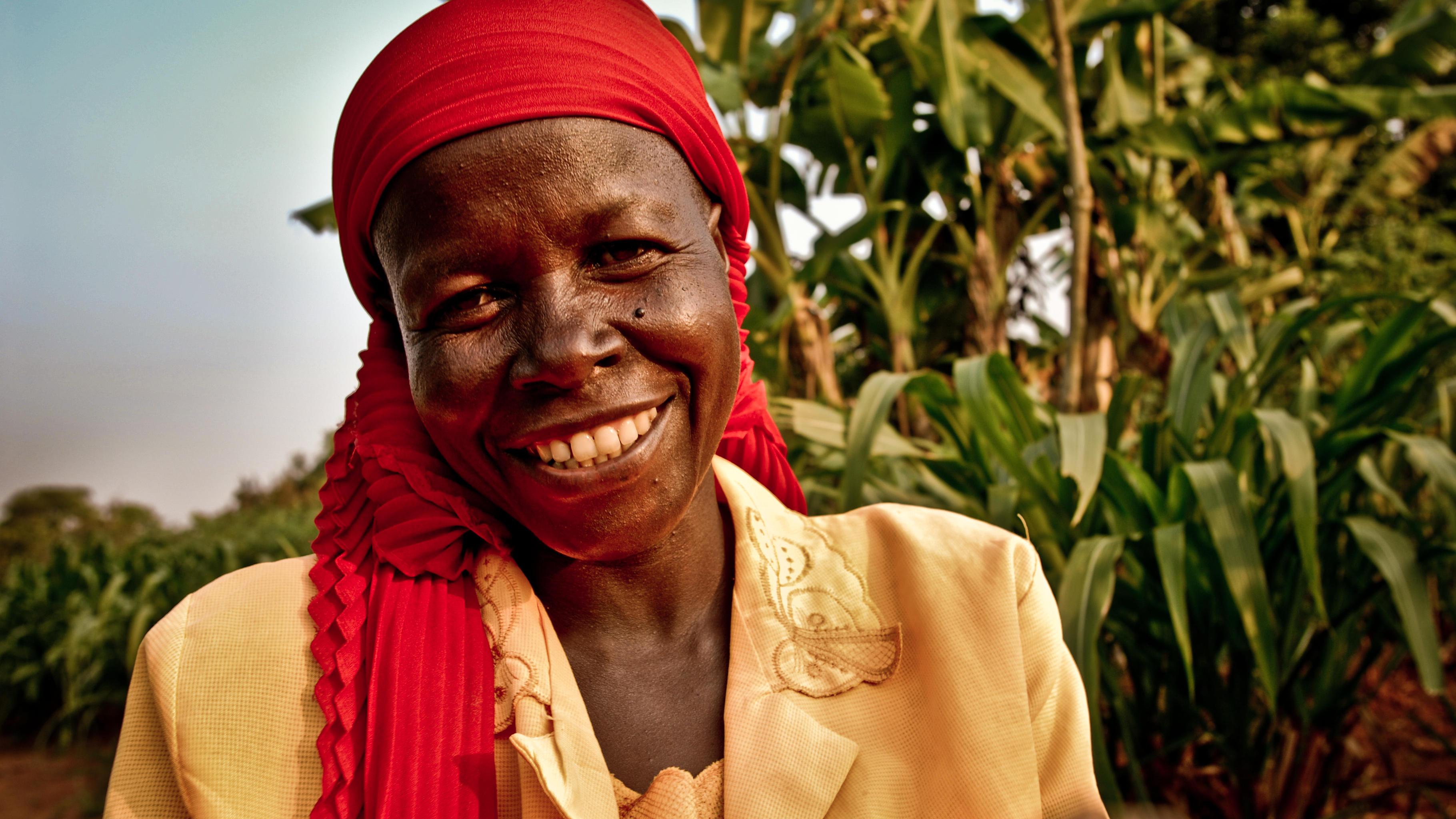 Frau in Burundi