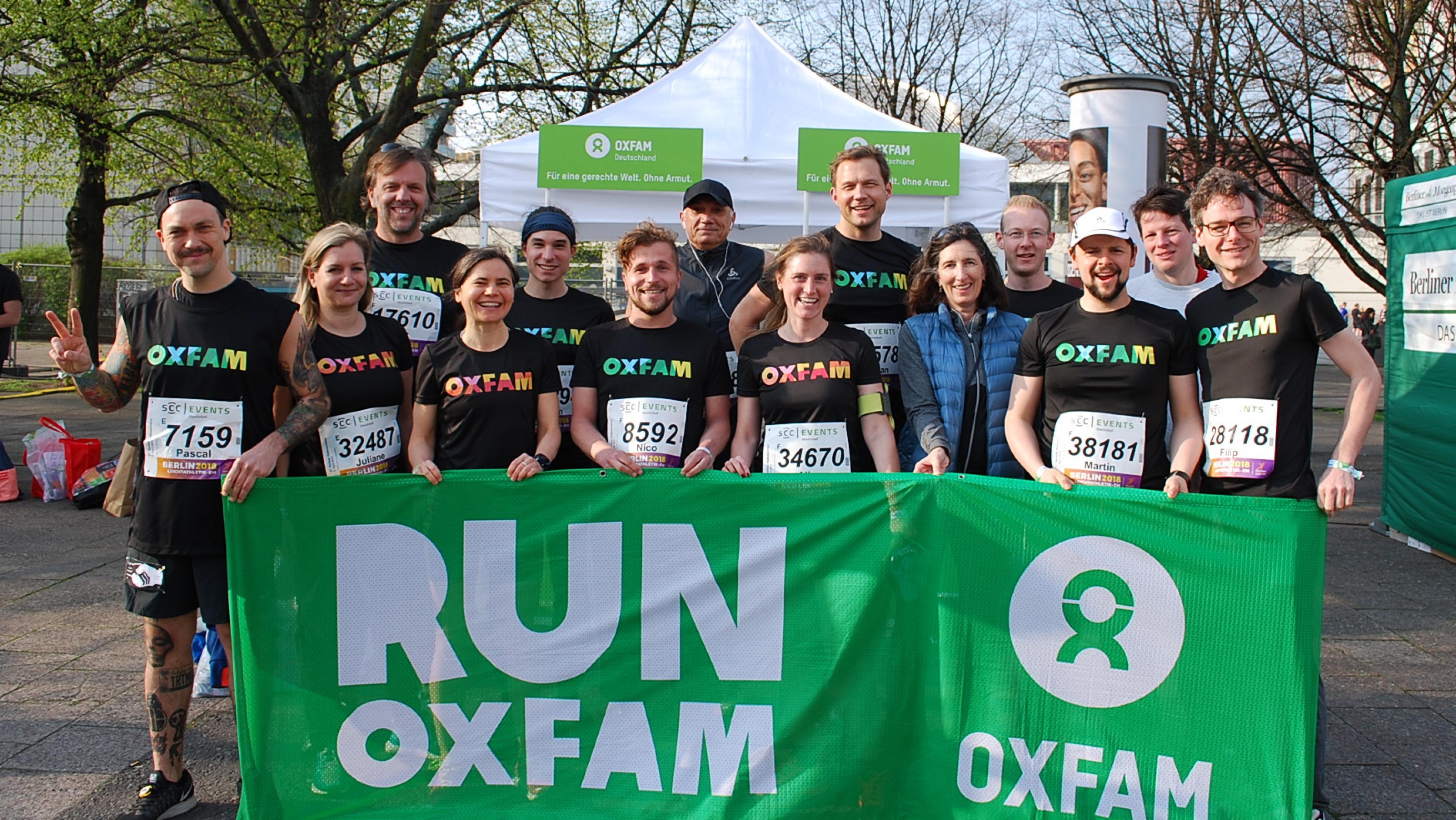 Charitypl tze beim berliner halbmarathon am 8 april 2018 for Oxfam spenden
