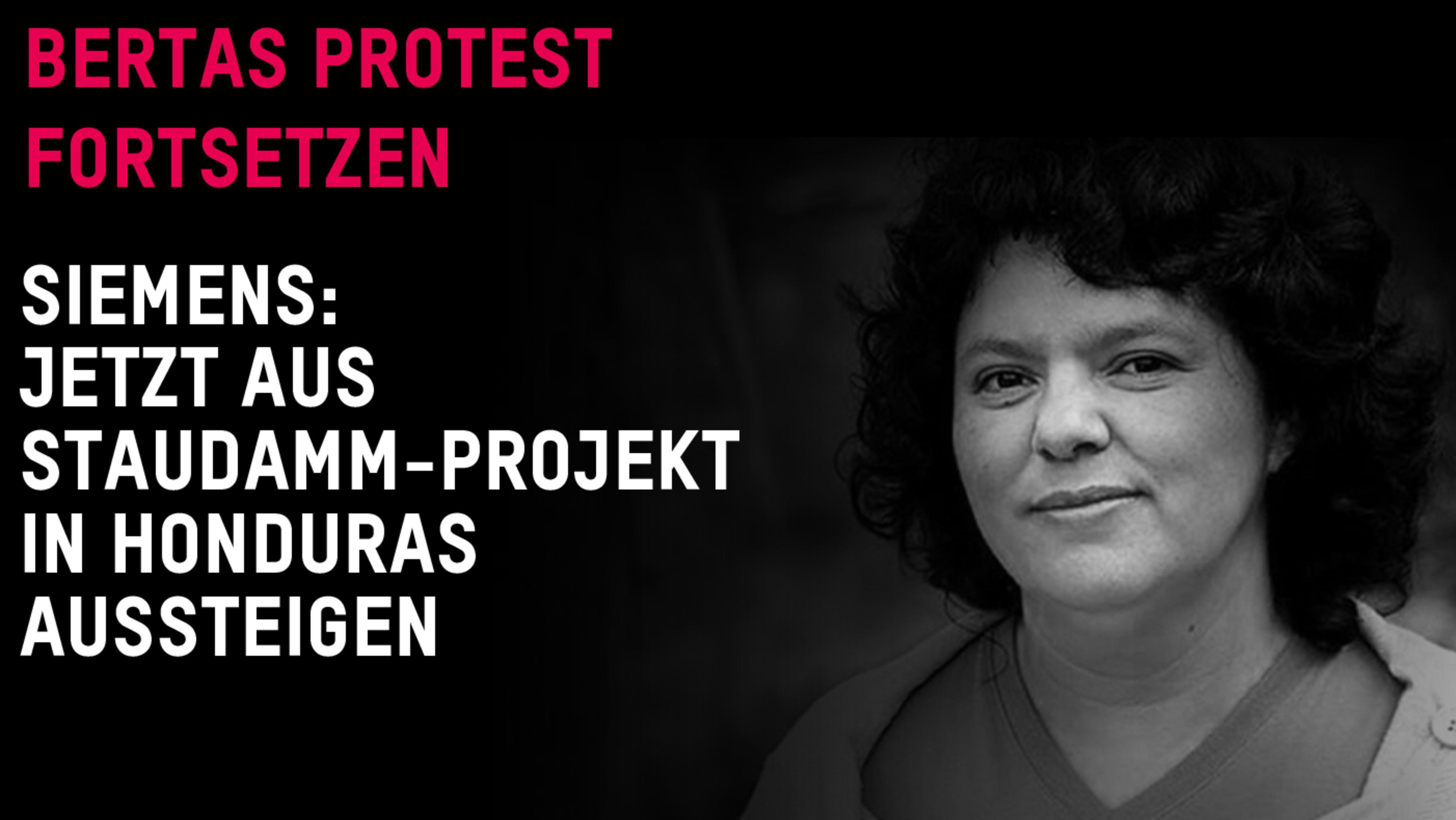 Bertas Protest fortsetzen