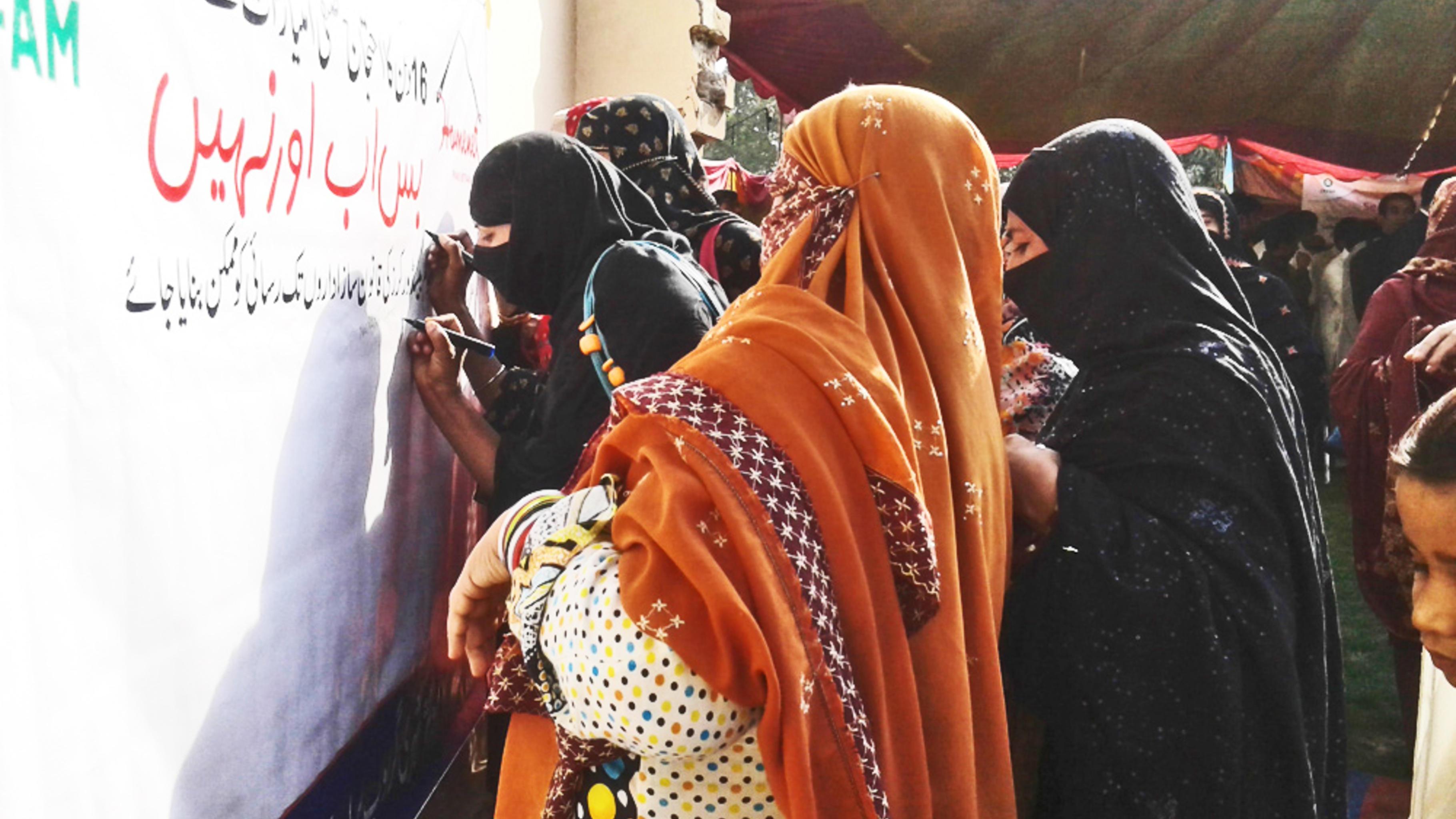 Frauen setzen sich für Rechte ein