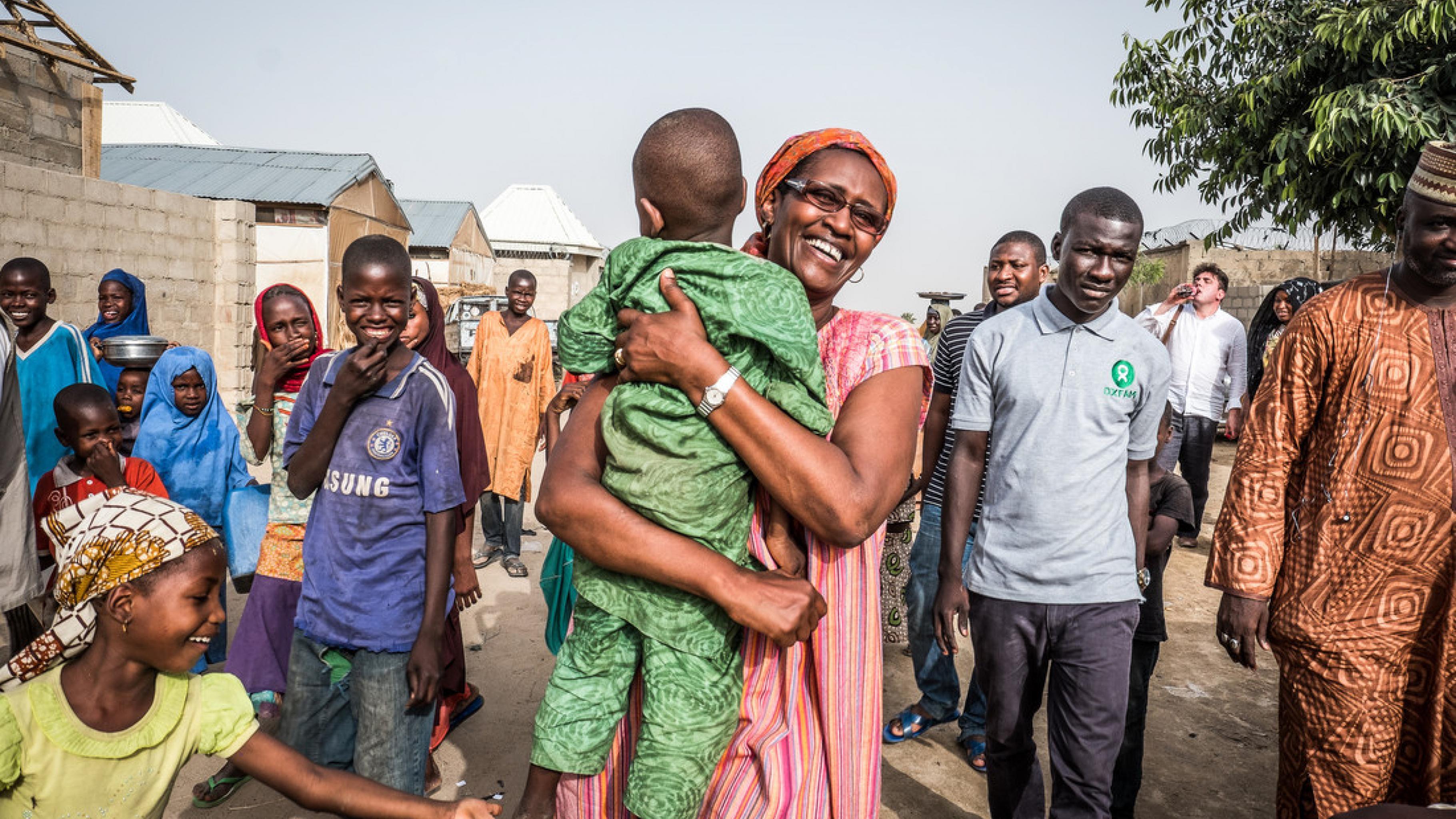 Winnie Byanyima in Kushari, Maiduguri im Nordosten Nigerias