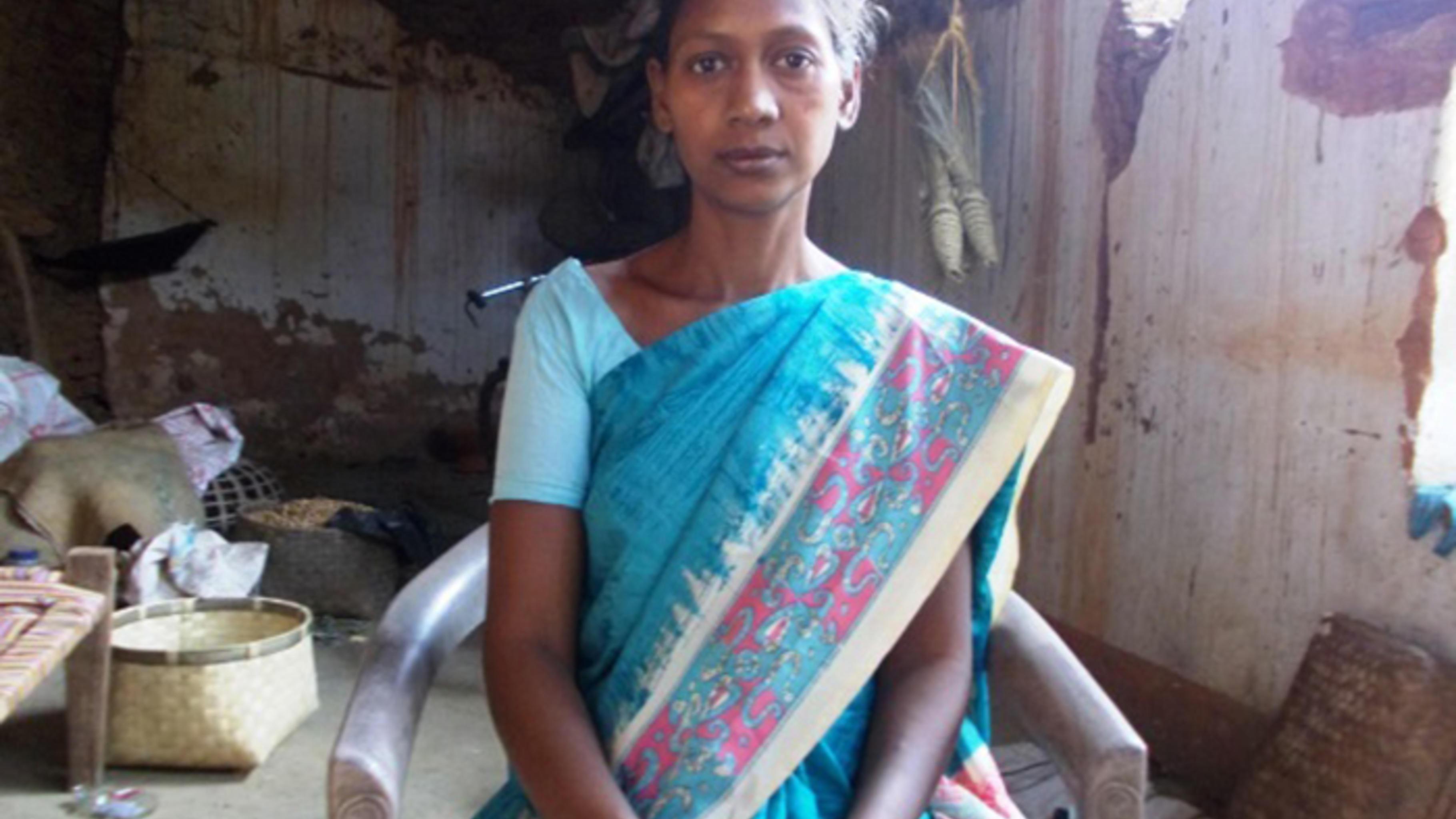 Padmini Devi, engagiert im Gesundheits- und im Schulkomitee in ihrem Heimatdorf