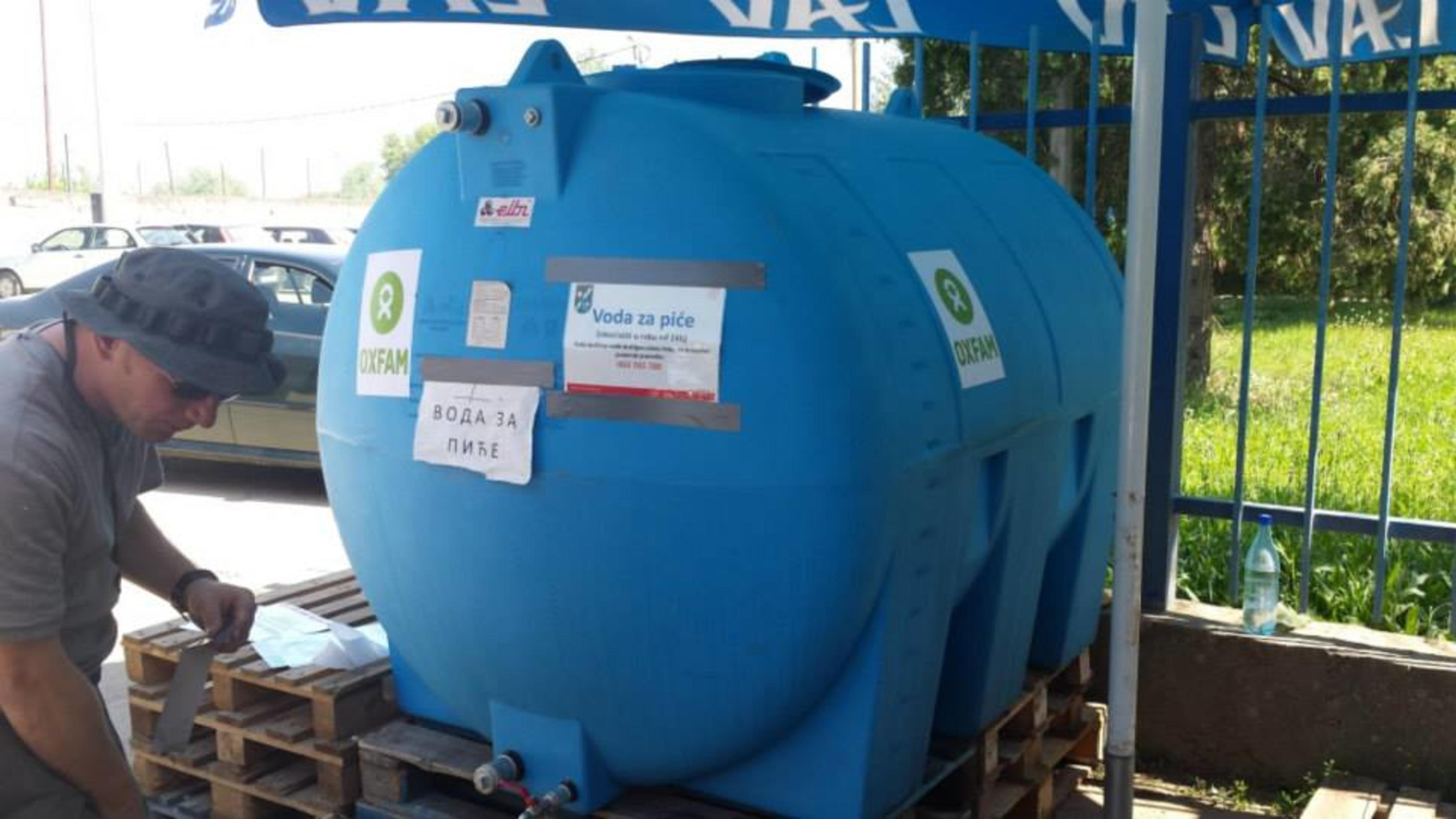 Wassertanks in Šamac