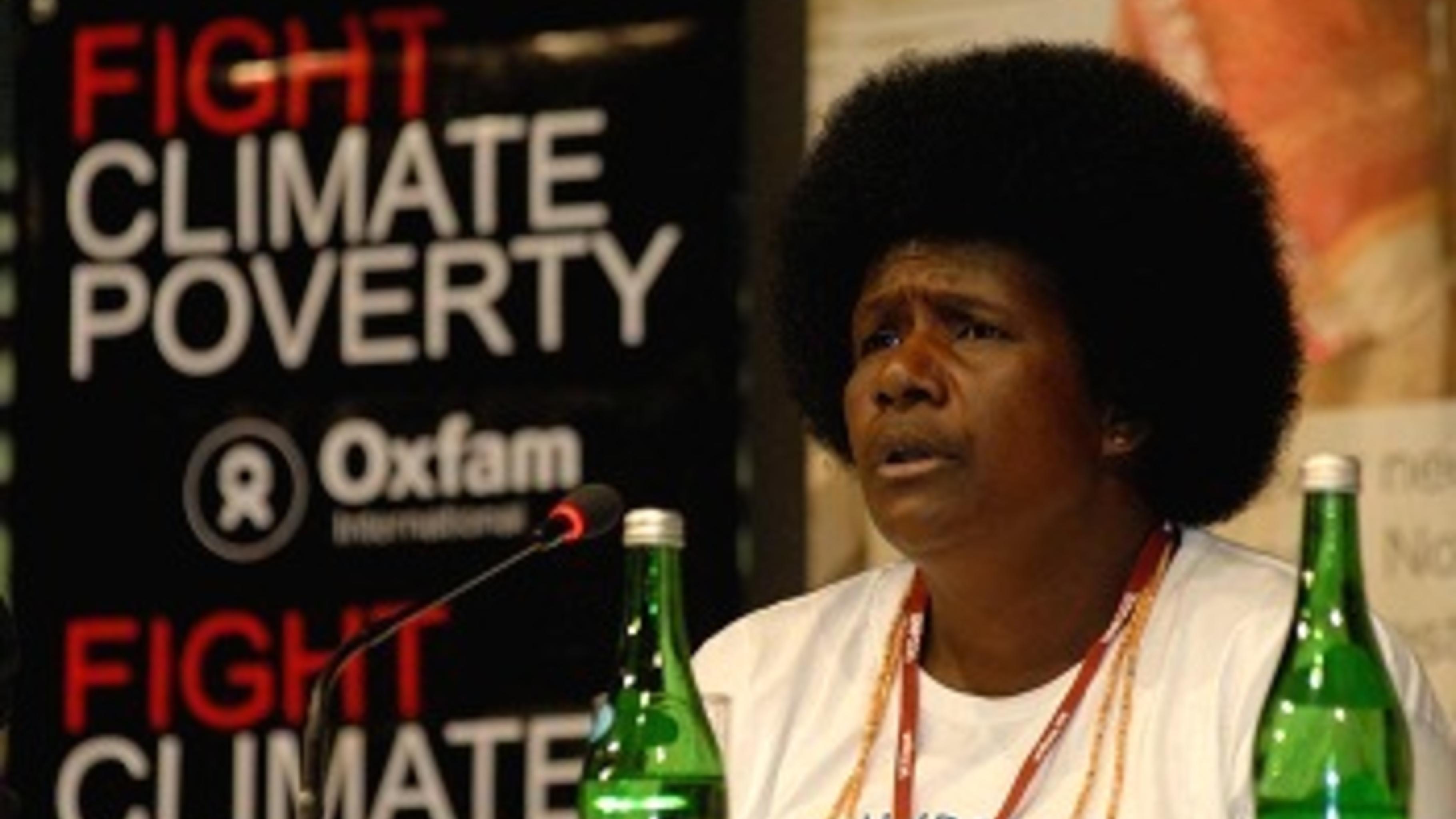Ursula Rakova auf der UN-Klimakonferenz in Bali. © Ng Swan Ti/Oxfam.