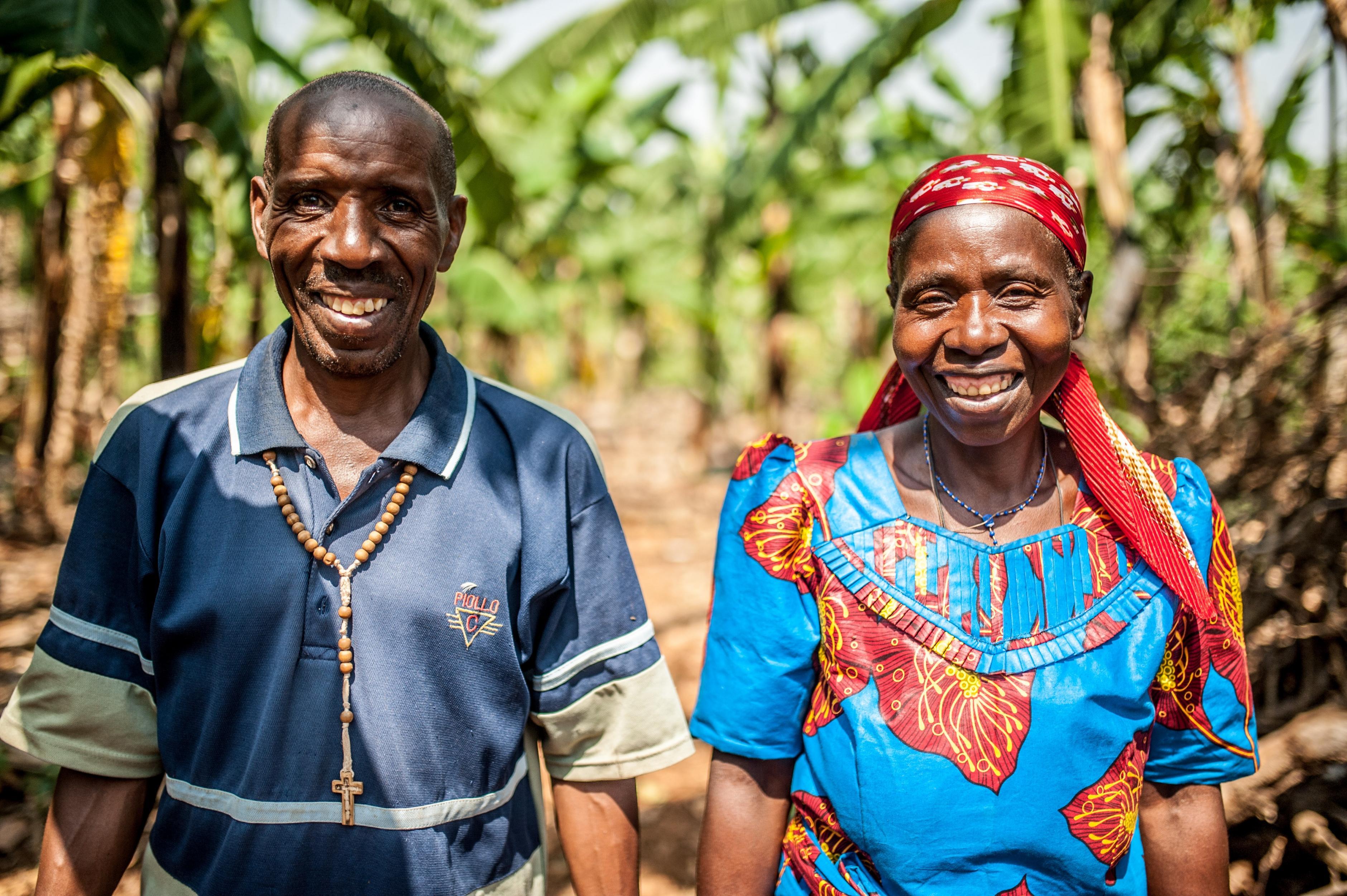 Das Ehepaar Theresie Nyirantozi und Pascal Hakizamumgu