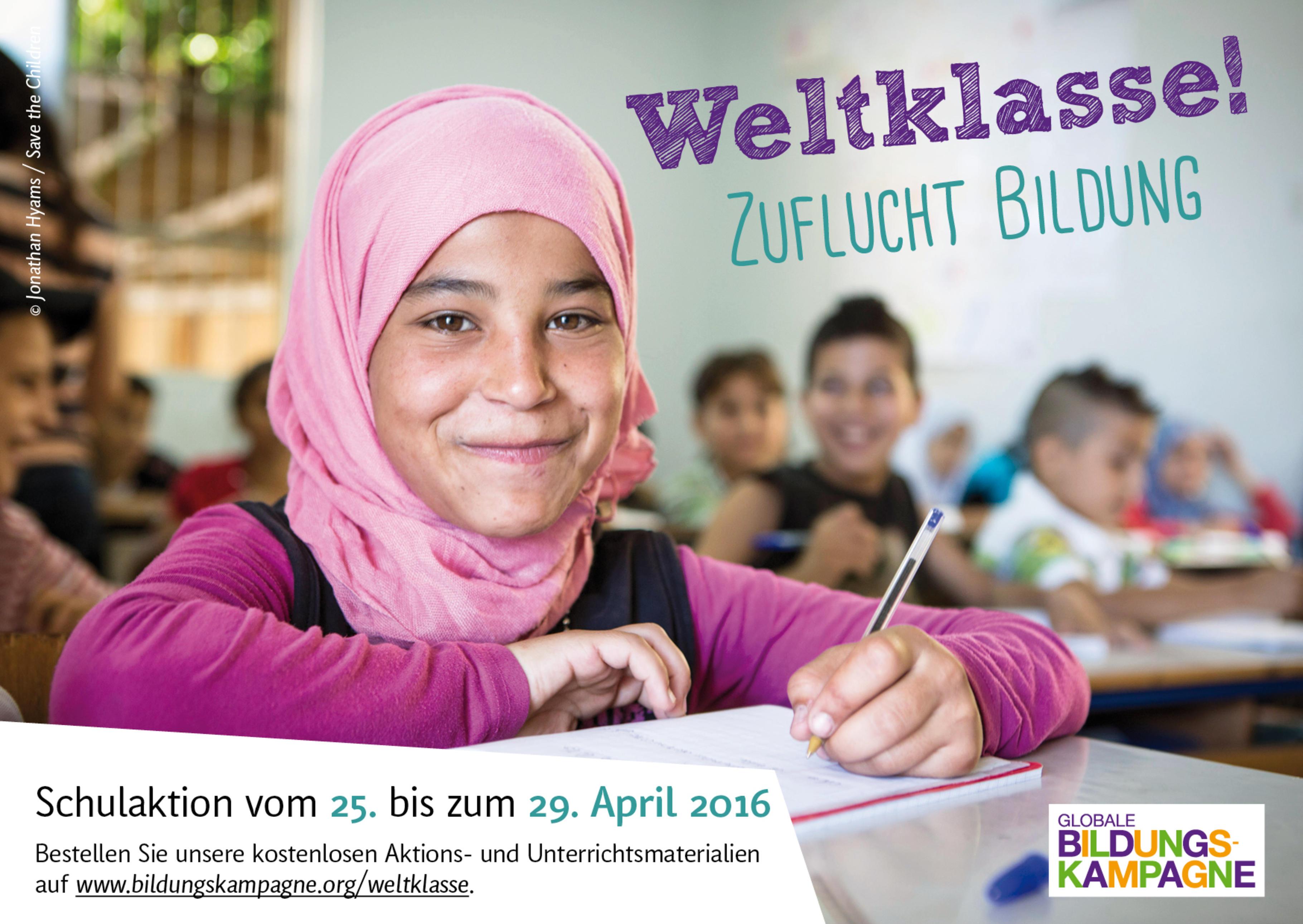 "Schulaktionswochen ""Zuflucht Bildung"""