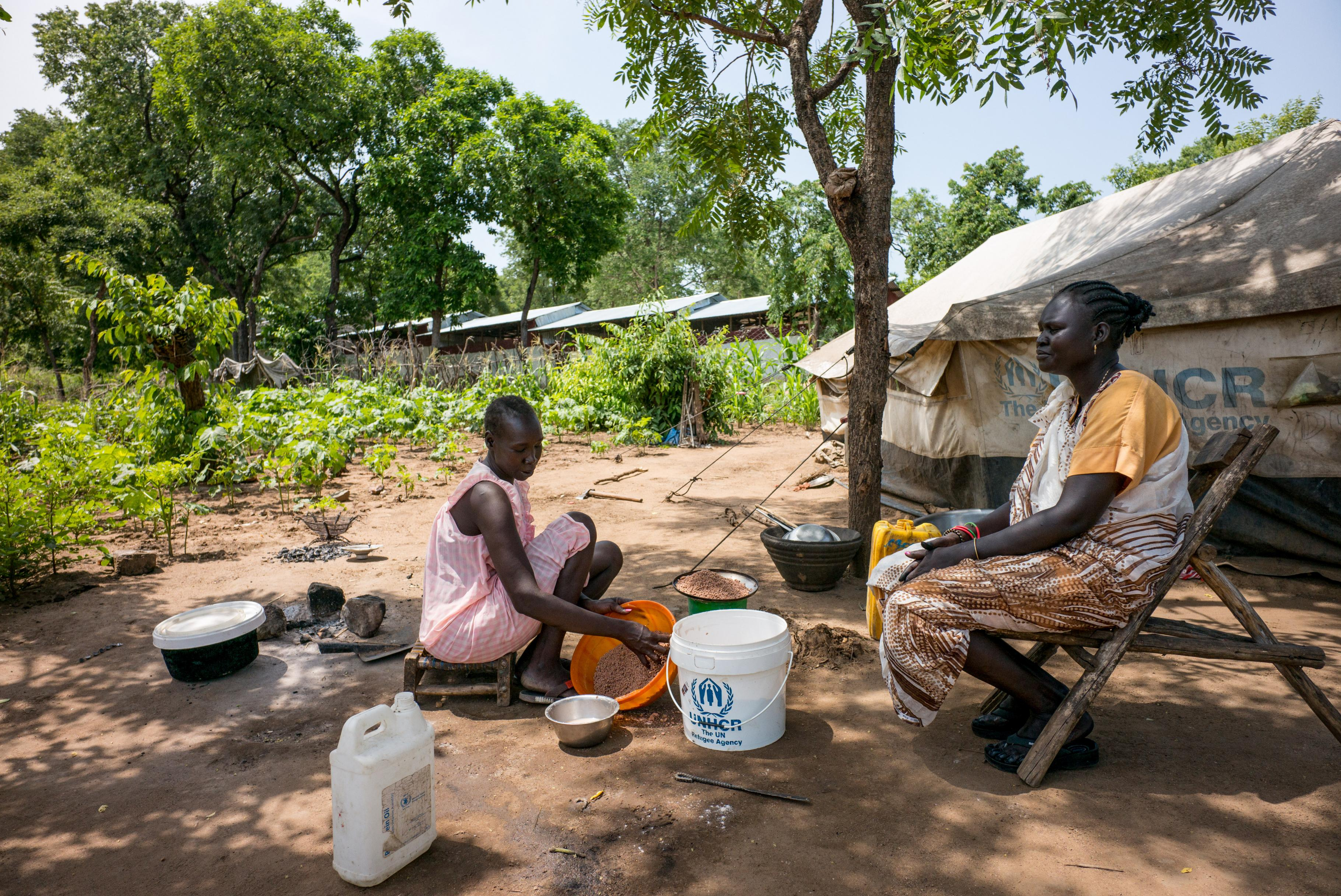 Nya aus dem Südsudan im Flüchtlingscamp in Jewi