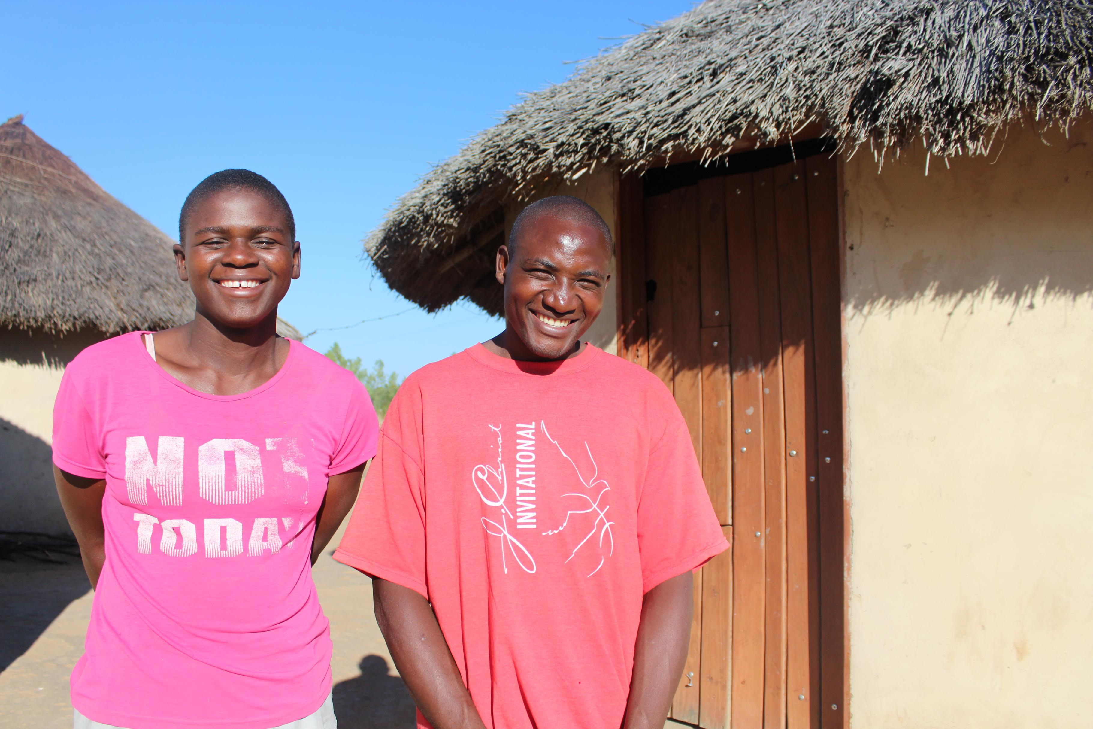 Lucius Dewa und Preserve Dewa aus Simbabwe