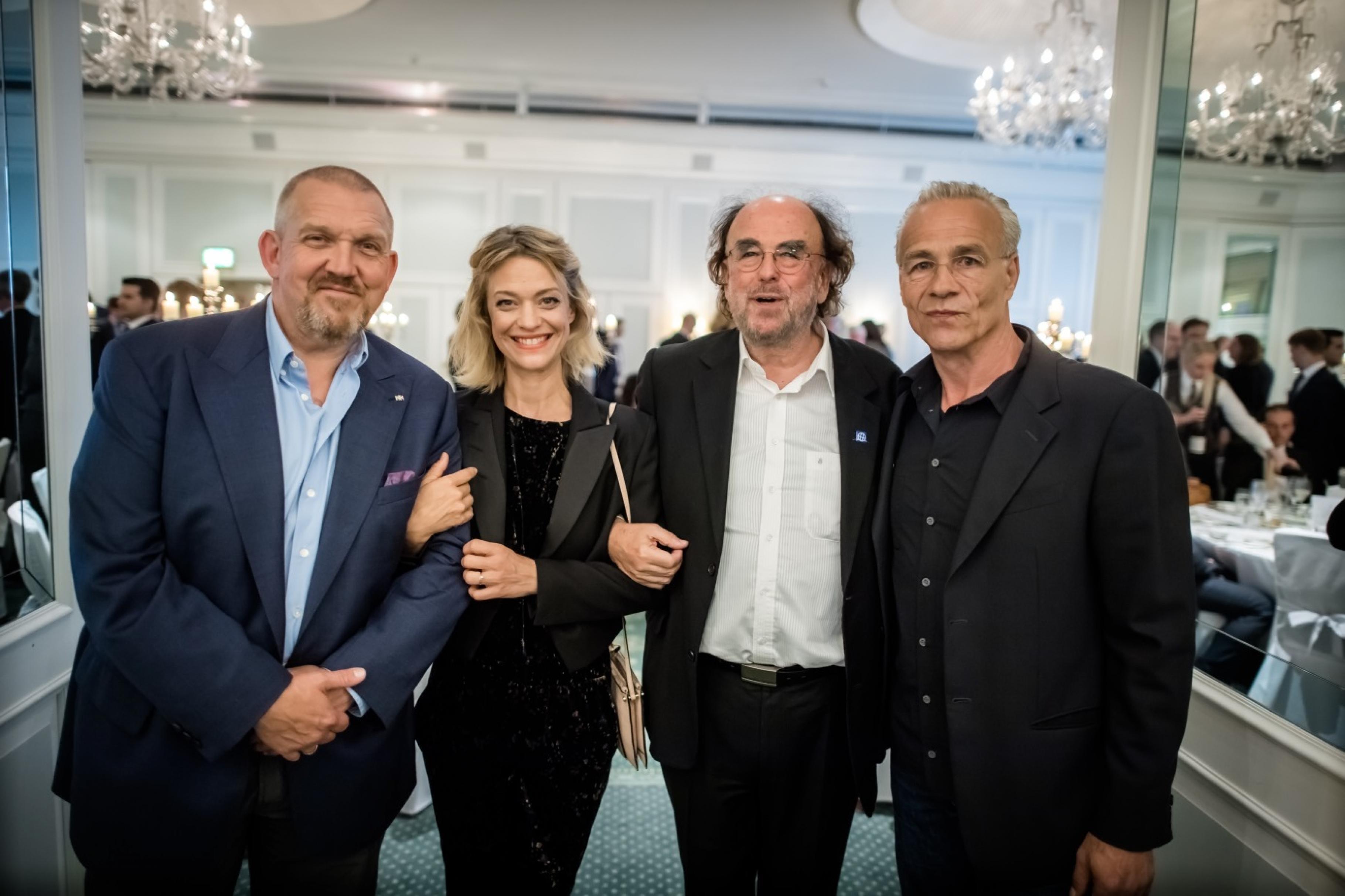 Dietmar Bär, Heike Makatsch, Alfred Platow und Klaus J. Behrendt beim Ökovision Award 2017.
