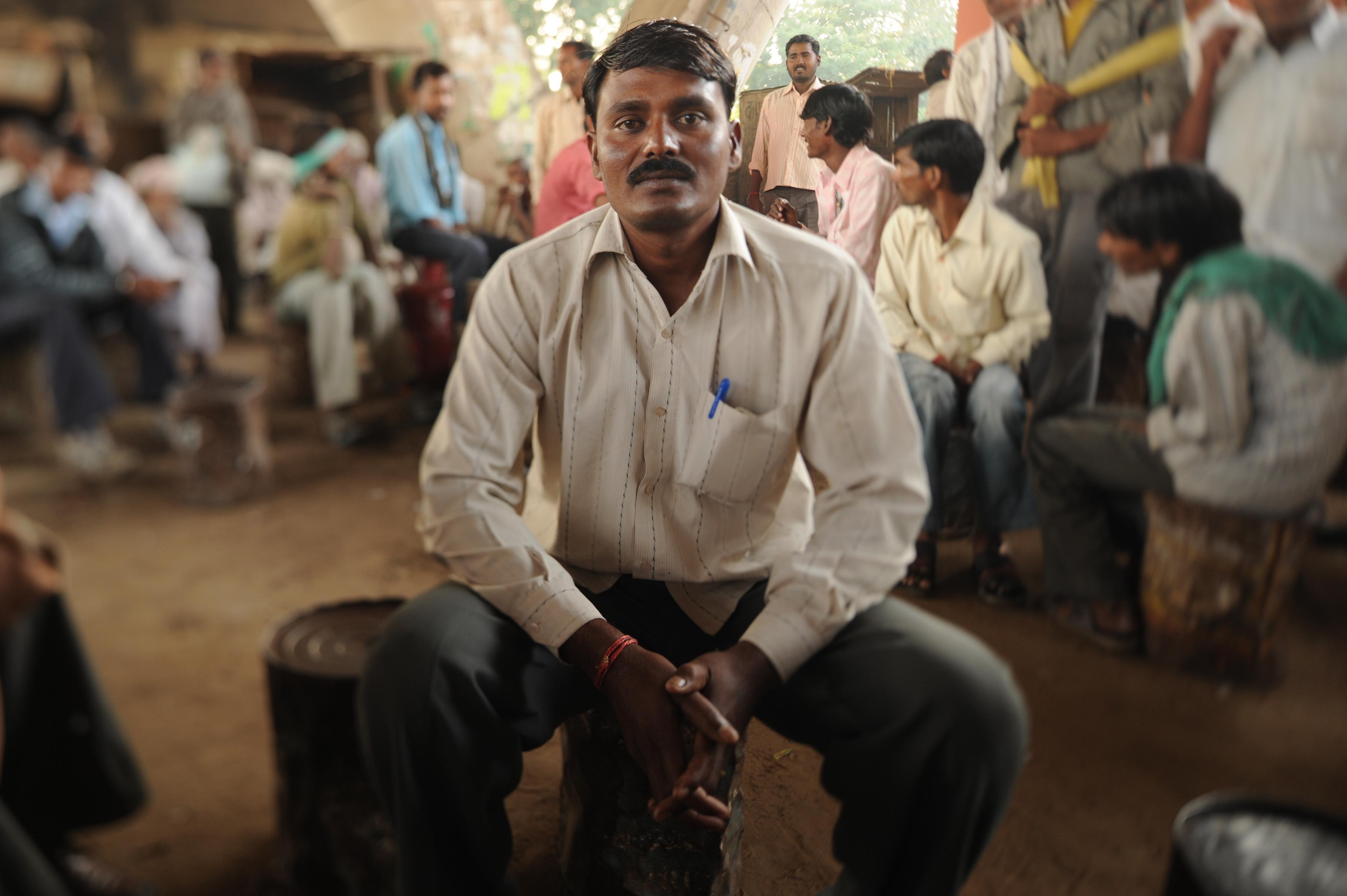 Shankar Lal wartet in Jaipur täglich aufs Neue auf Arbeit.