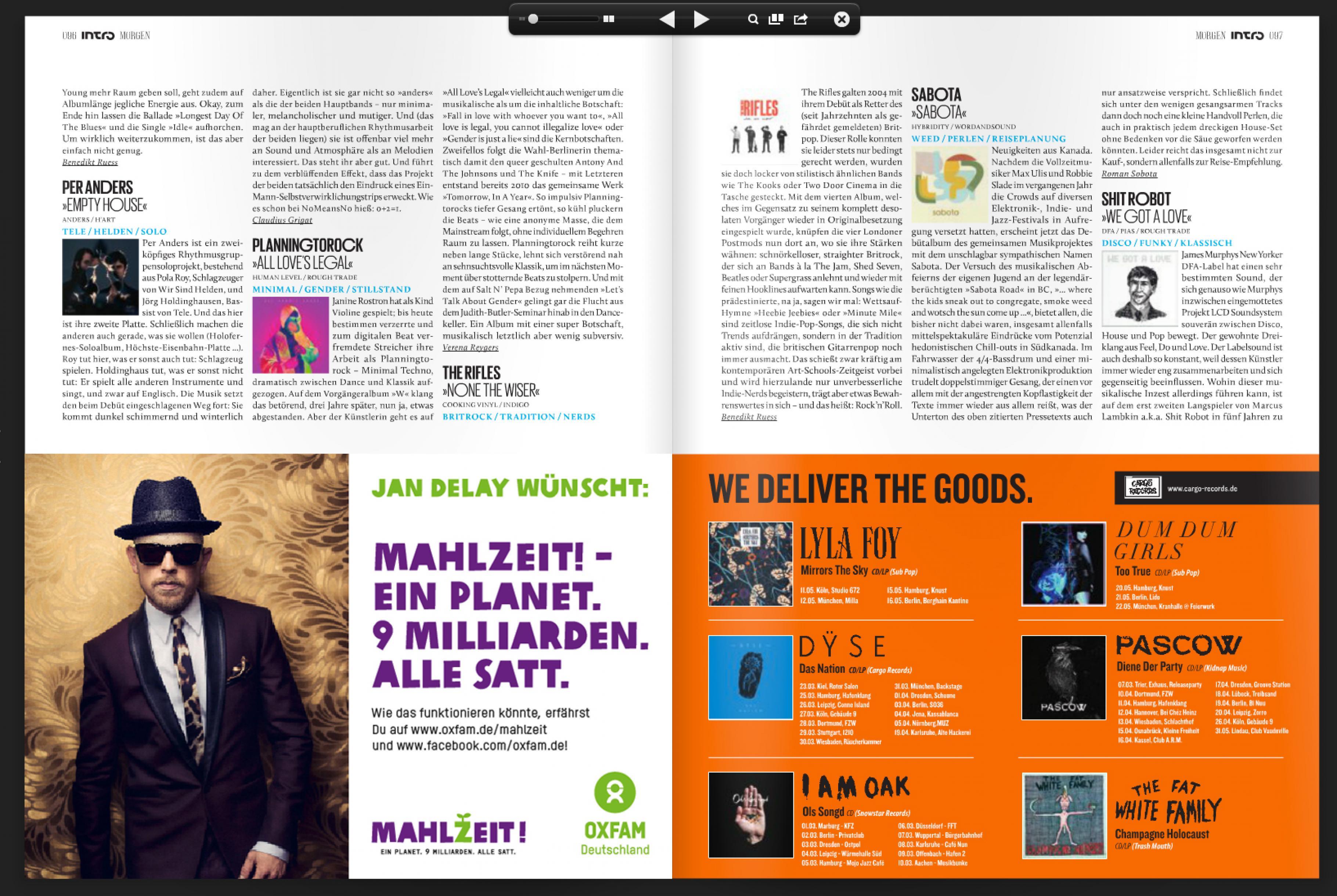 Jan Delays Botschaft im Musikmagazin Intro