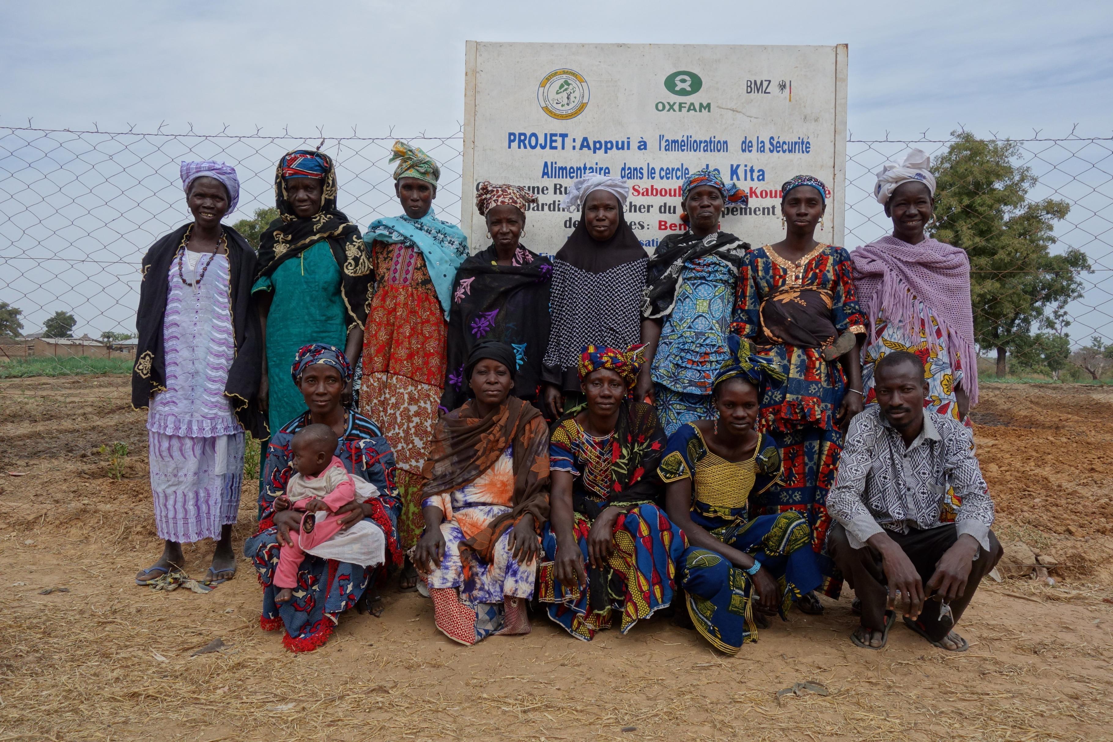 Gruppenbild Bäuerinnen aus Mali