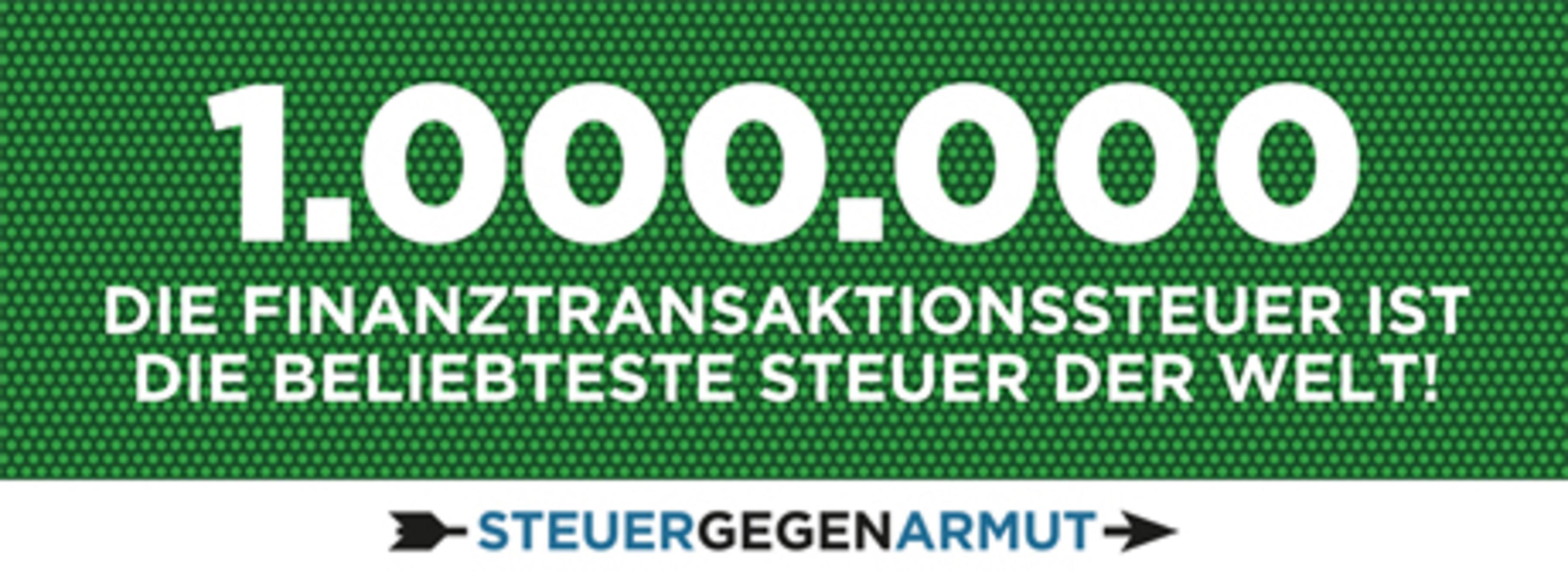 1 Million Unterschriften für die Finanztransaktionssteuer