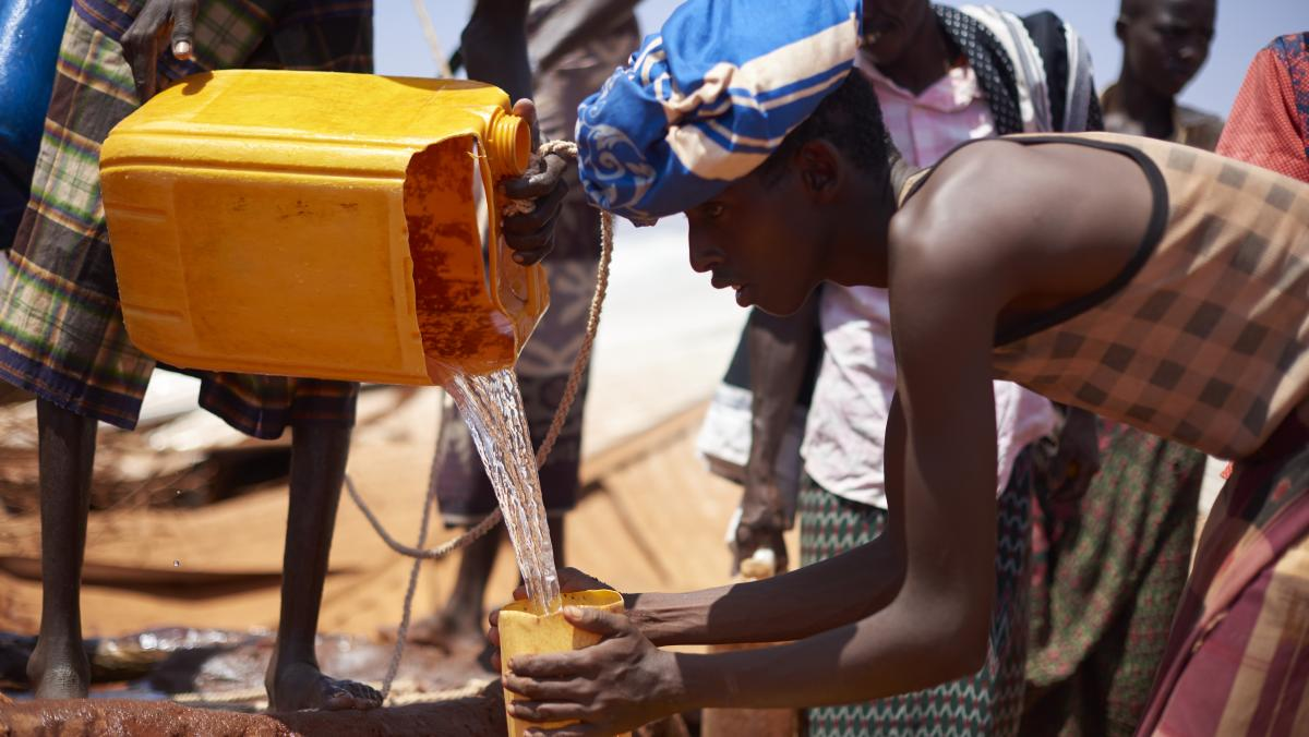 Oxfam versorgt die Menschen in Äthiopien mit sauberem Trinkwasser