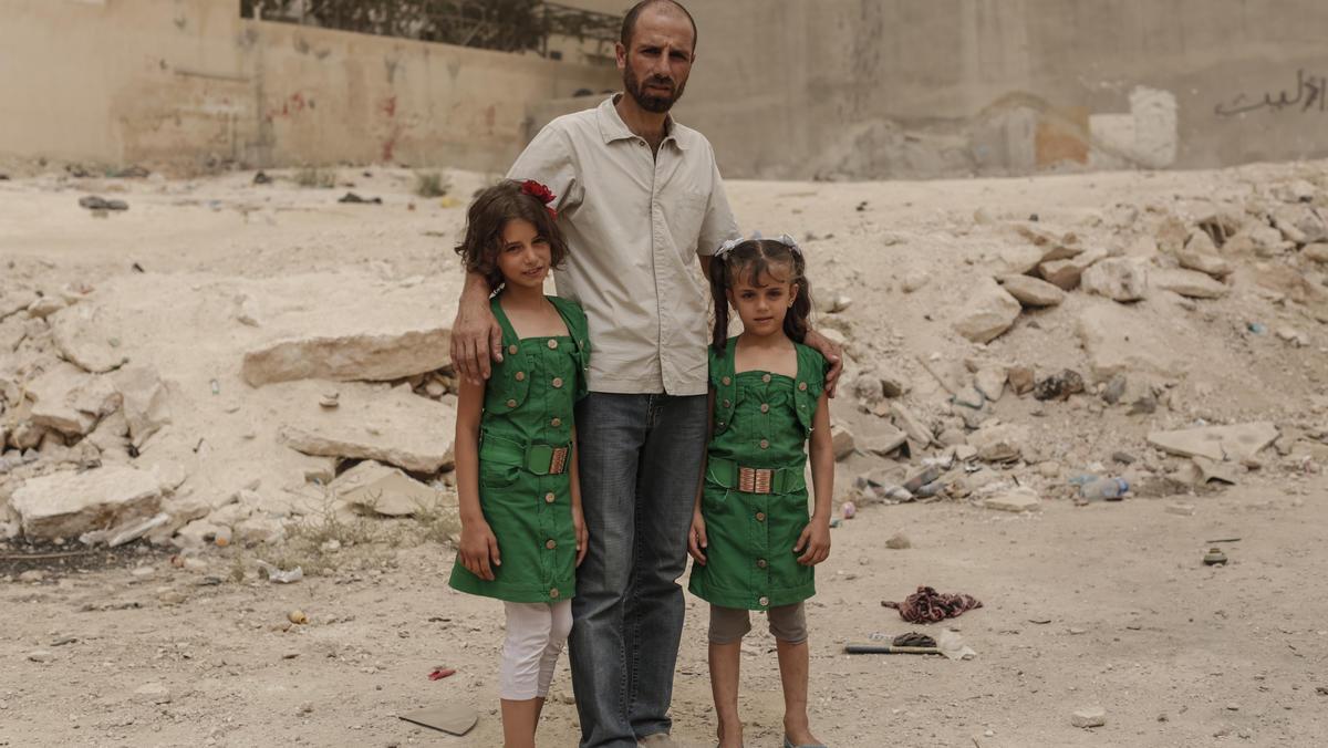 Syrische Flüchtlinge in Jordanien: Ahmad mit seinen Töchtern