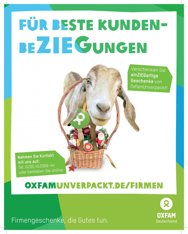 OxfamUnverpackt Freianzeige Firmengeschenke