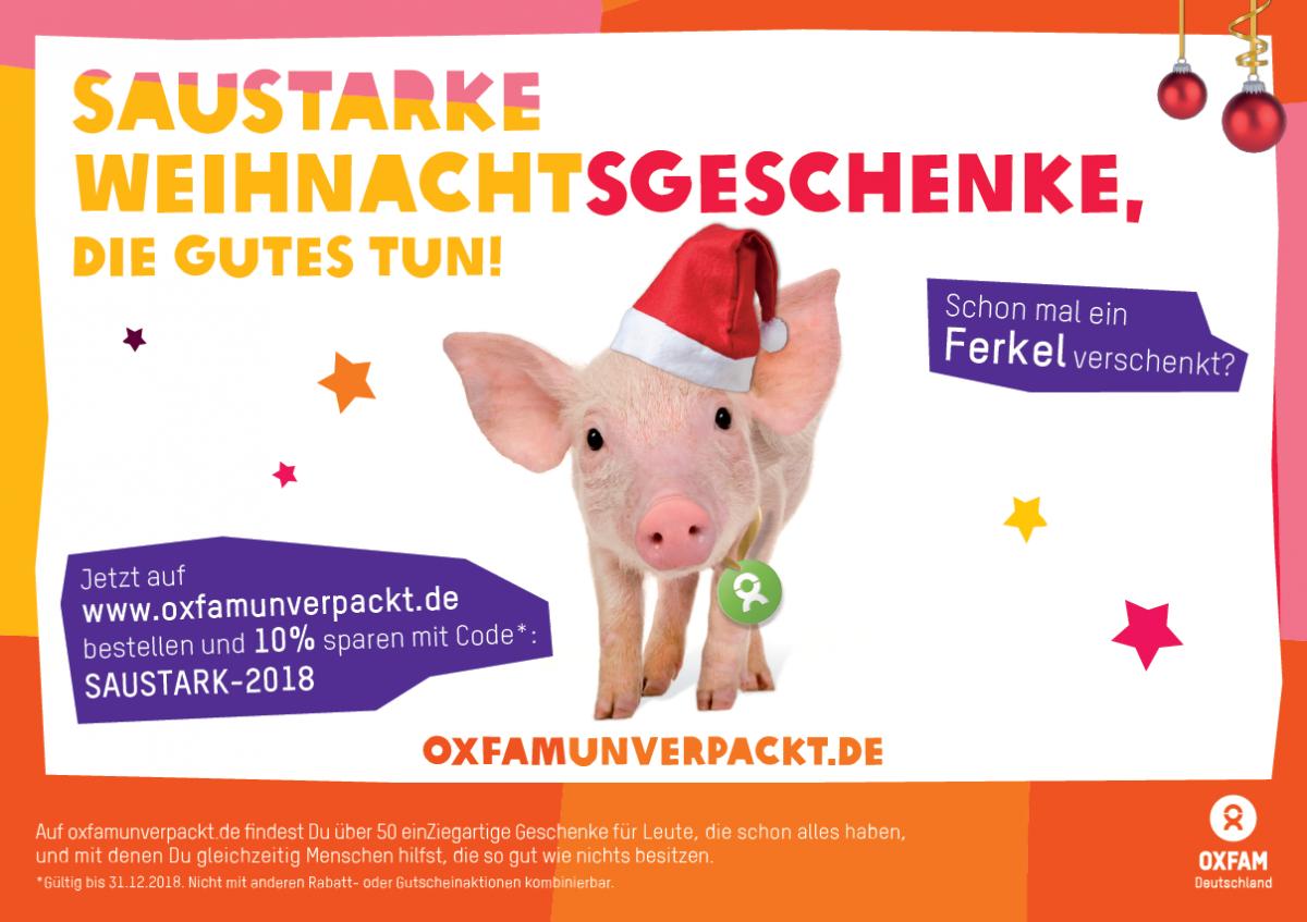 OxfamUnverpackt Freianzeigen Weihnachten 2018