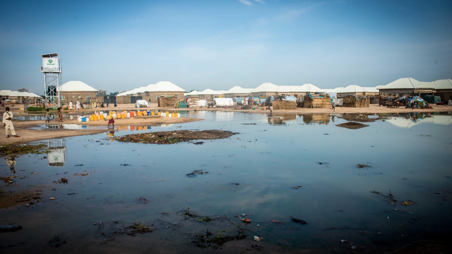 Camp für Binnenflüchtlinge in Maiduguri, Nigeria