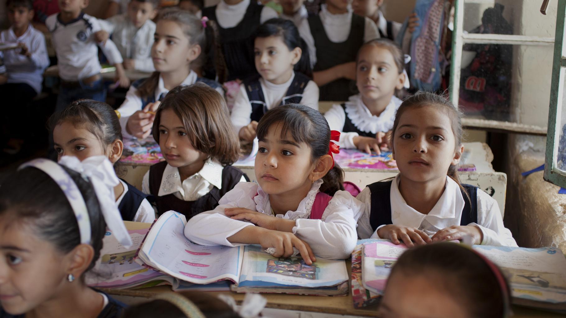 GKB Studie Bildung darf nicht warten Kinder in einer Grundschule im Irak