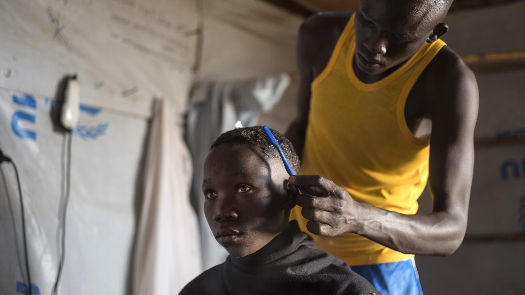 Martin aus Südsudan in einer Flüchtlingssiedlung in Uganda
