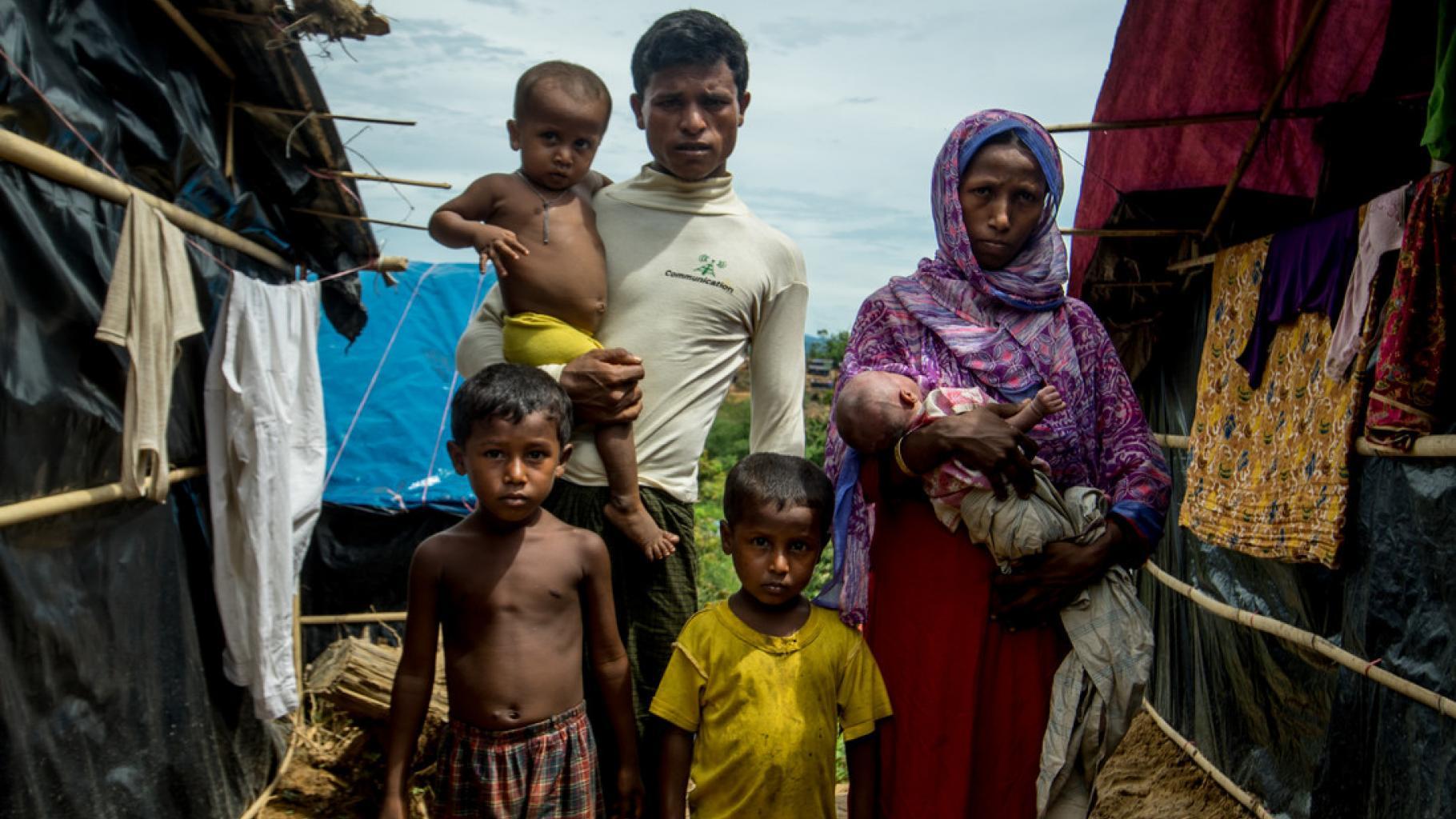 Flüchtlingsfamilie in Bangladesch