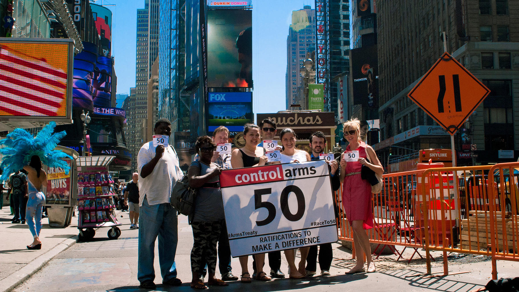 Endspurt im Rennen um 50. Ratifikation: Control-Arms-Campaigner in New York.