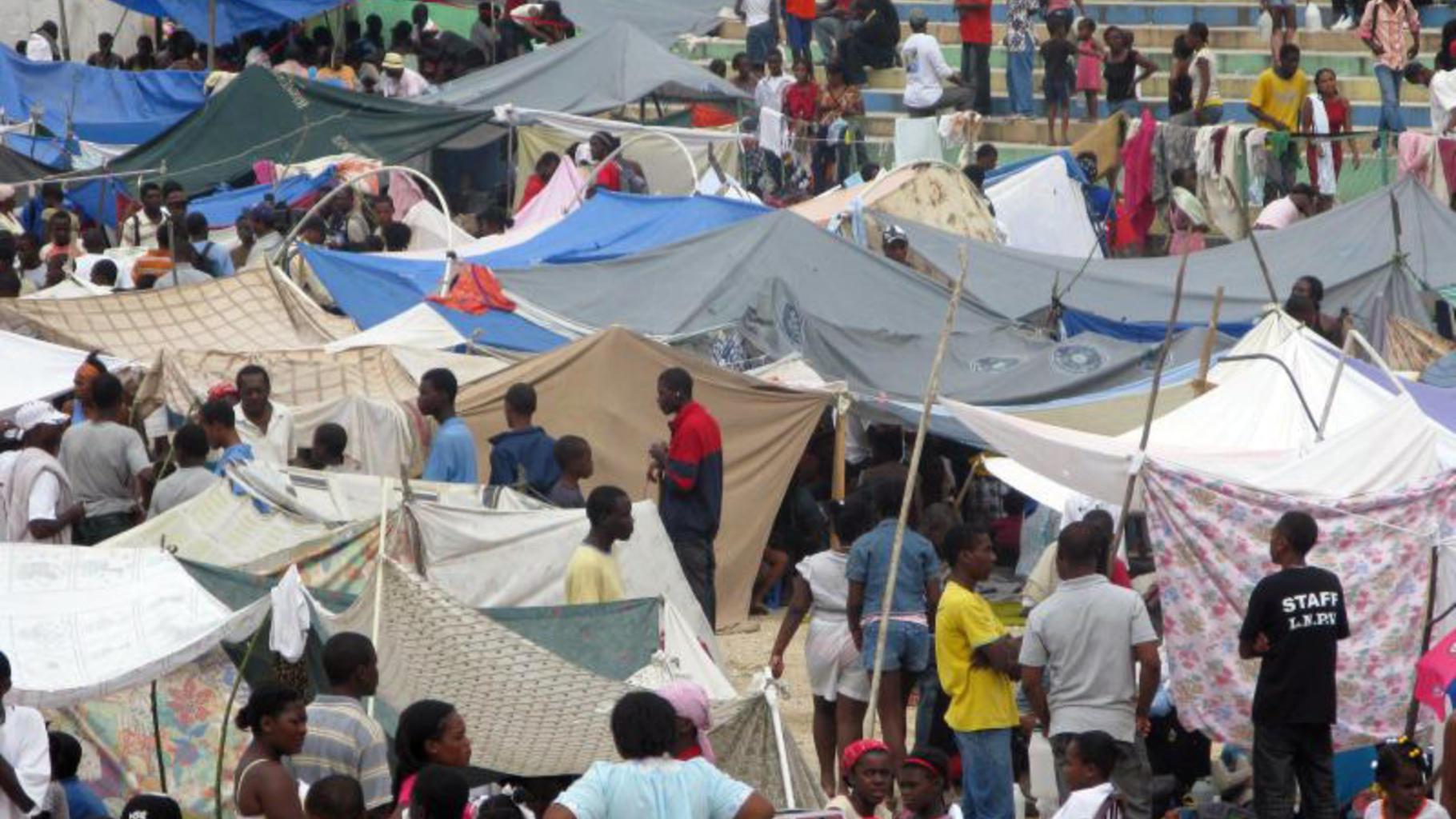 Foto: Notunterkünfte in Haiti