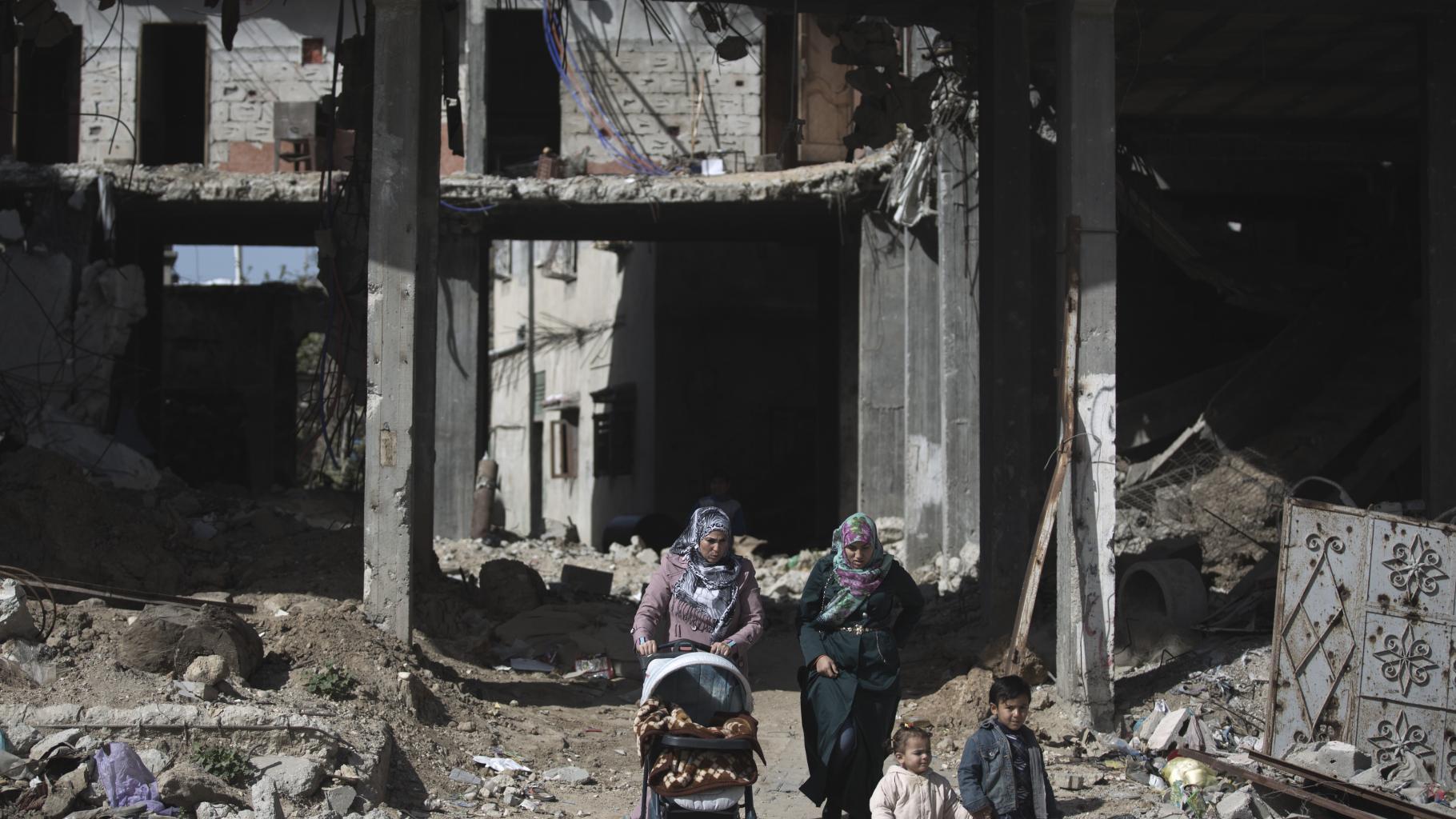 Gaza-Konflikt Familie in Trümmern