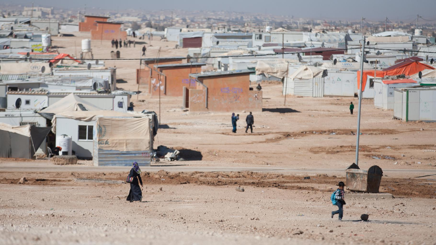 Zataari Refugee Camp in Jordanien