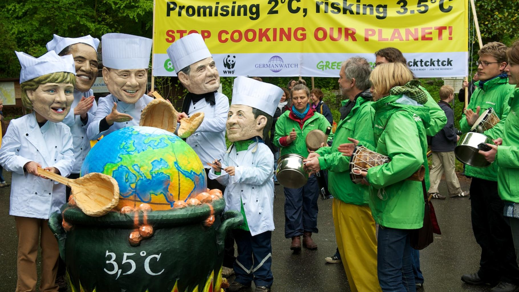Foto:Fotostunt zum Petersberger Klimadialog, 2. Mai 2010