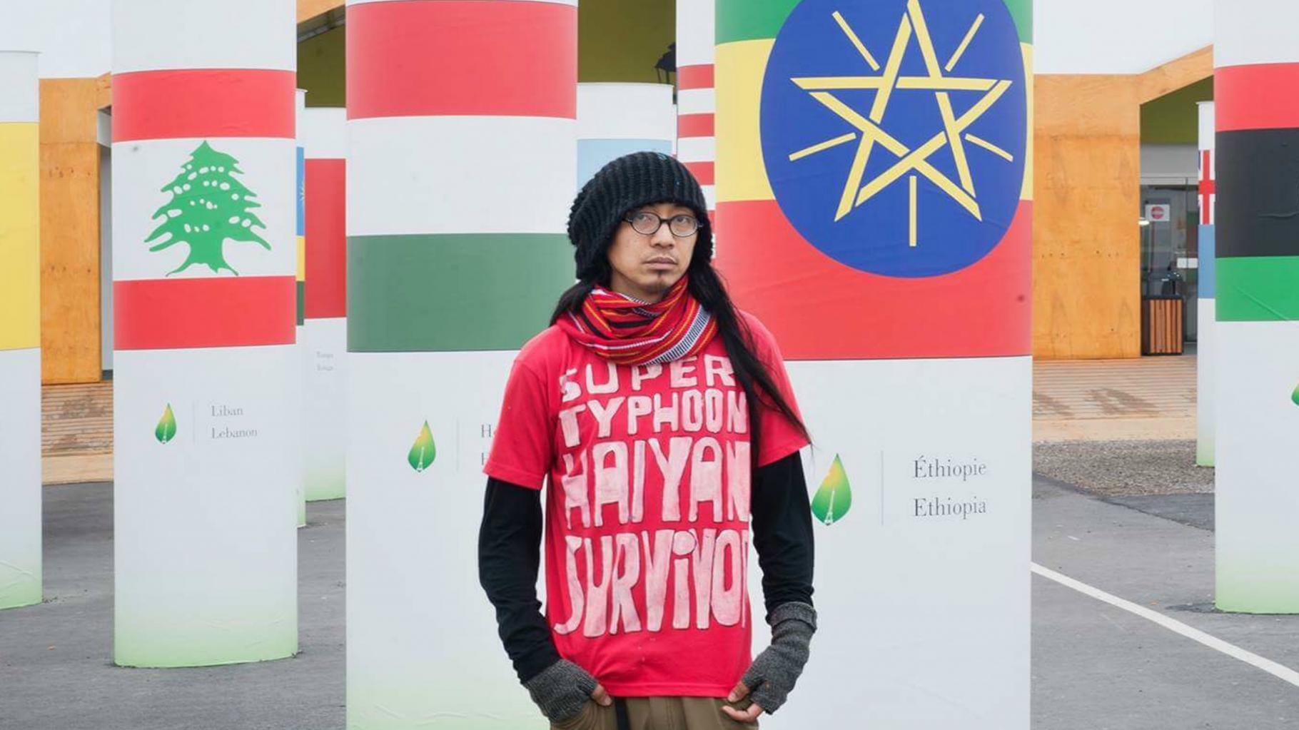 A. G. Saño reist um die Welt, um vor den Folgen des Klimawandels zu warnen.
