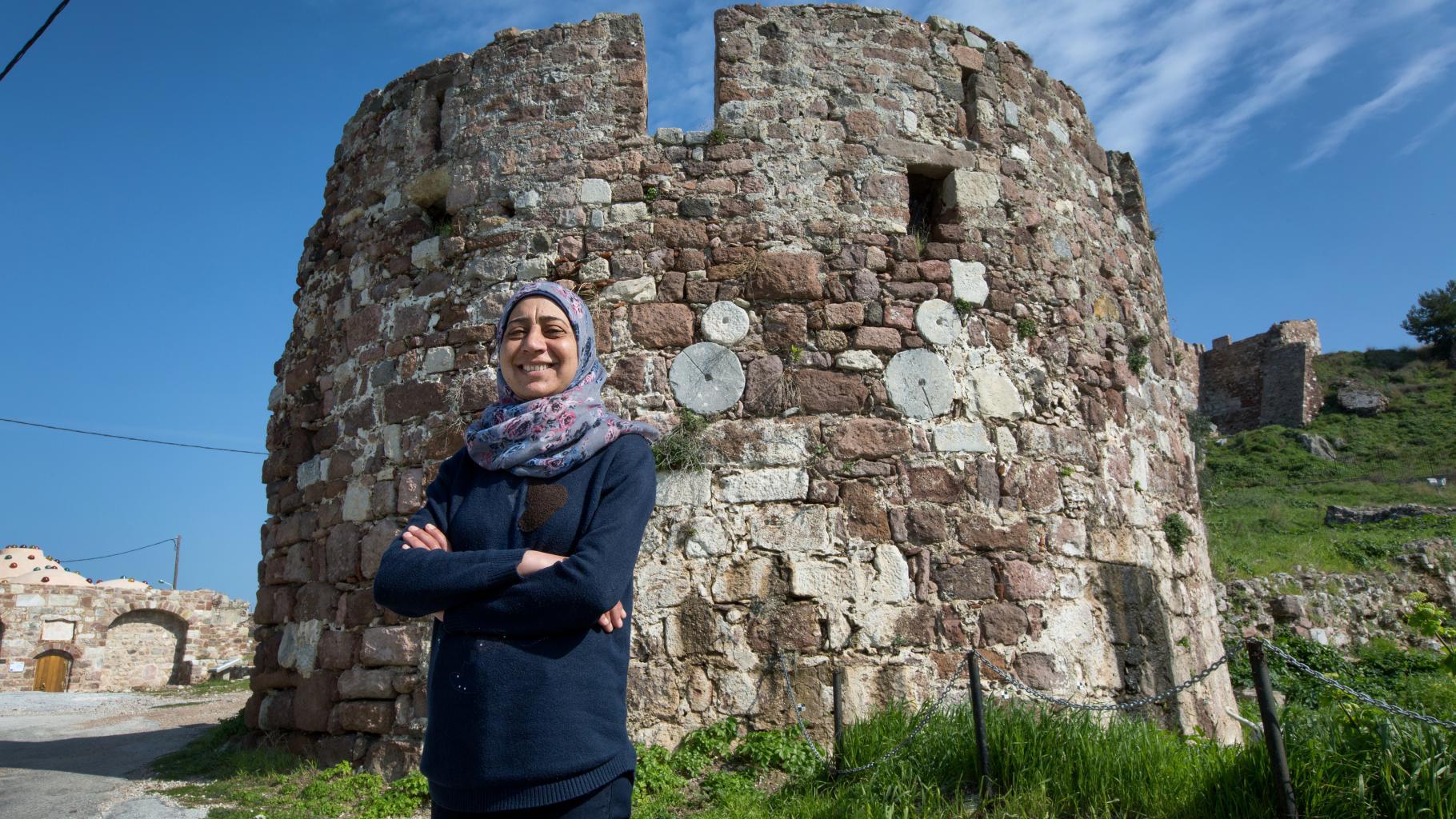Bloggerin Amal auf der griechischen Insel Lesbos